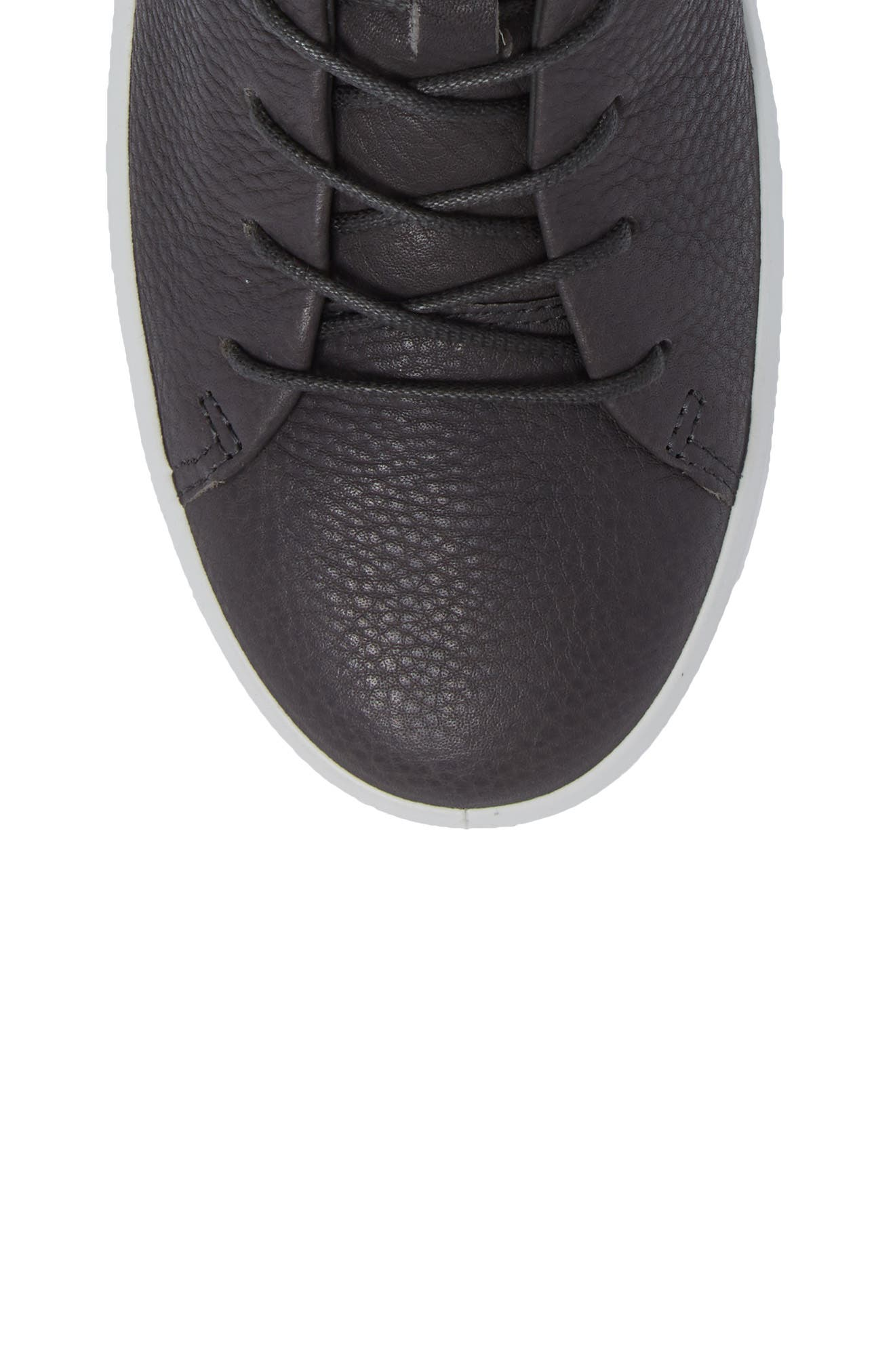 Soft 8 High Top Sneaker,                             Alternate thumbnail 5, color,                             Dark Shadow Leather