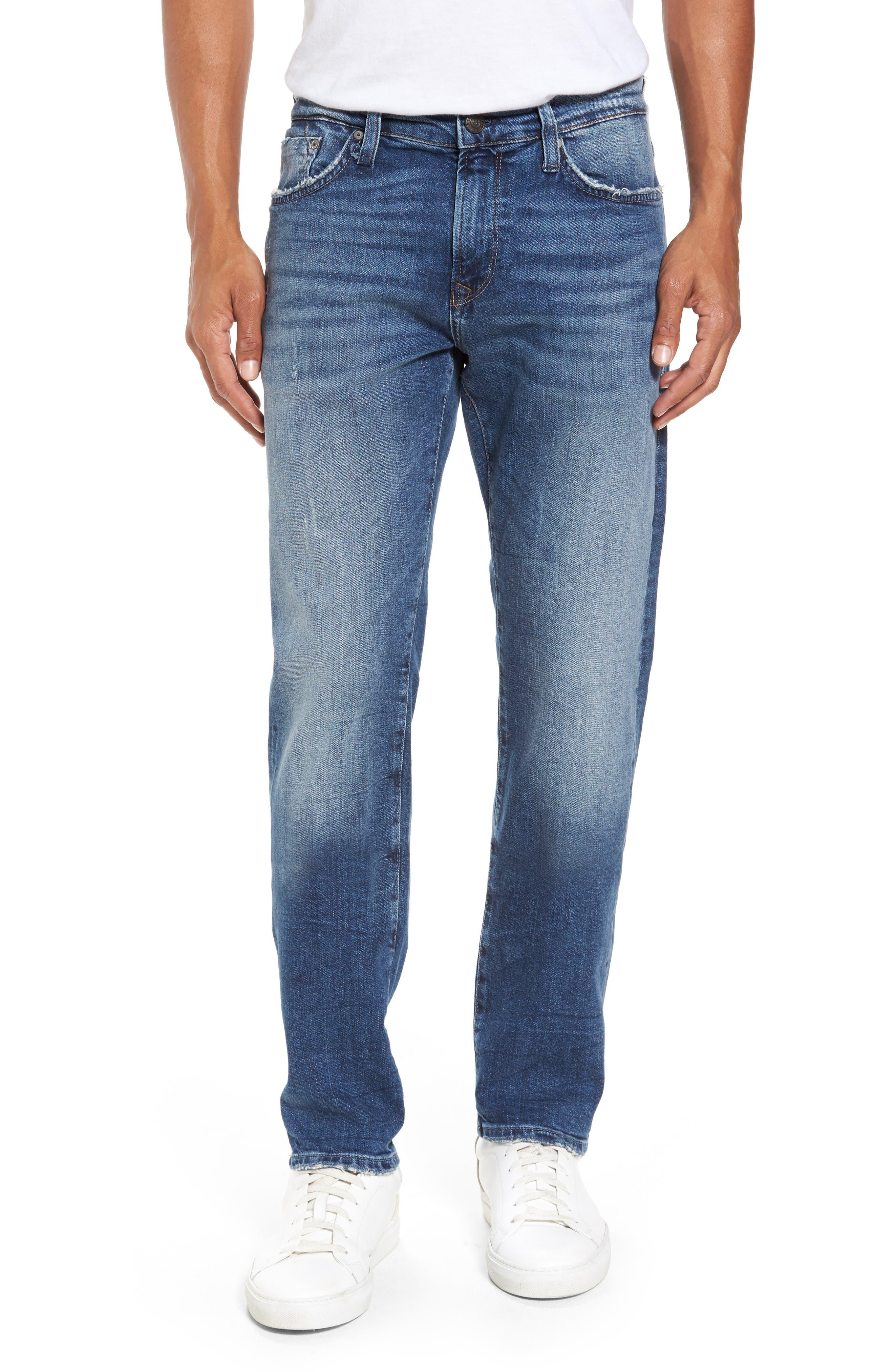 Alternate Image 1 Selected - Mavi Jeans Marcus Slim Straight Leg Jeans (Destroyed Authentic Vintage)