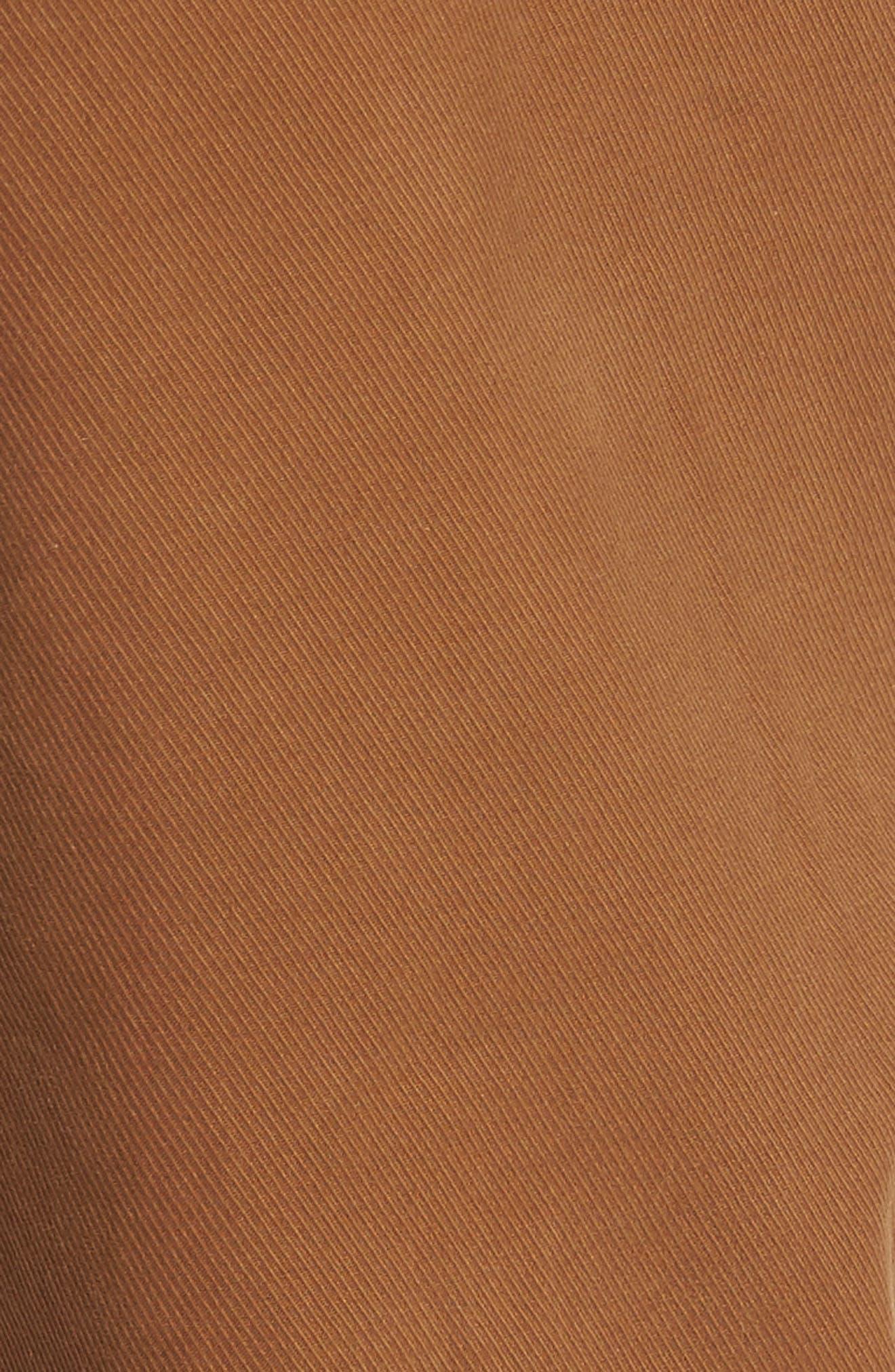 Nick Slim Fit Flat Front Pants,                             Alternate thumbnail 5, color,                             Sienna