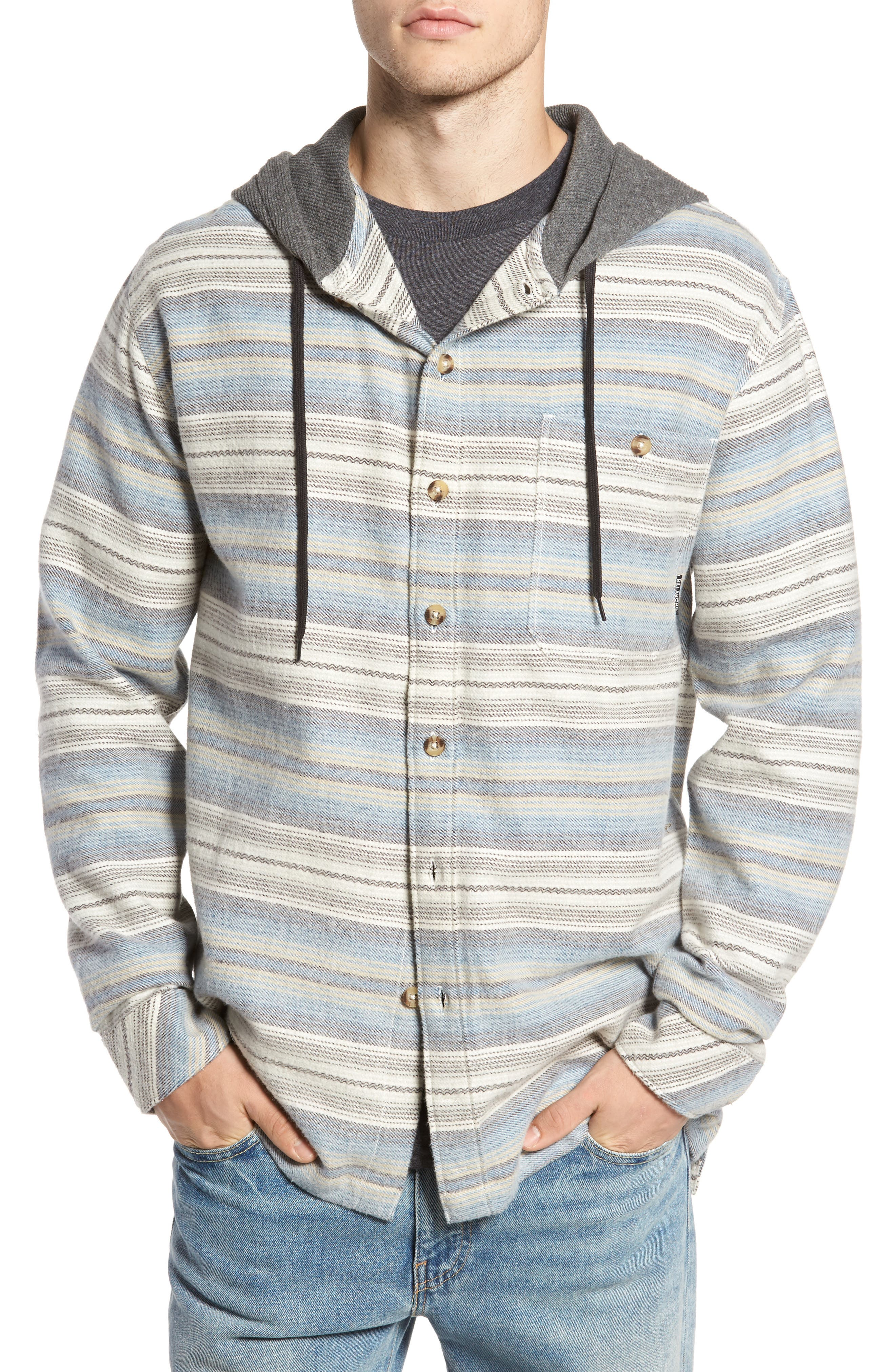 Baja Hooded Flannel Shirt,                         Main,                         color, She