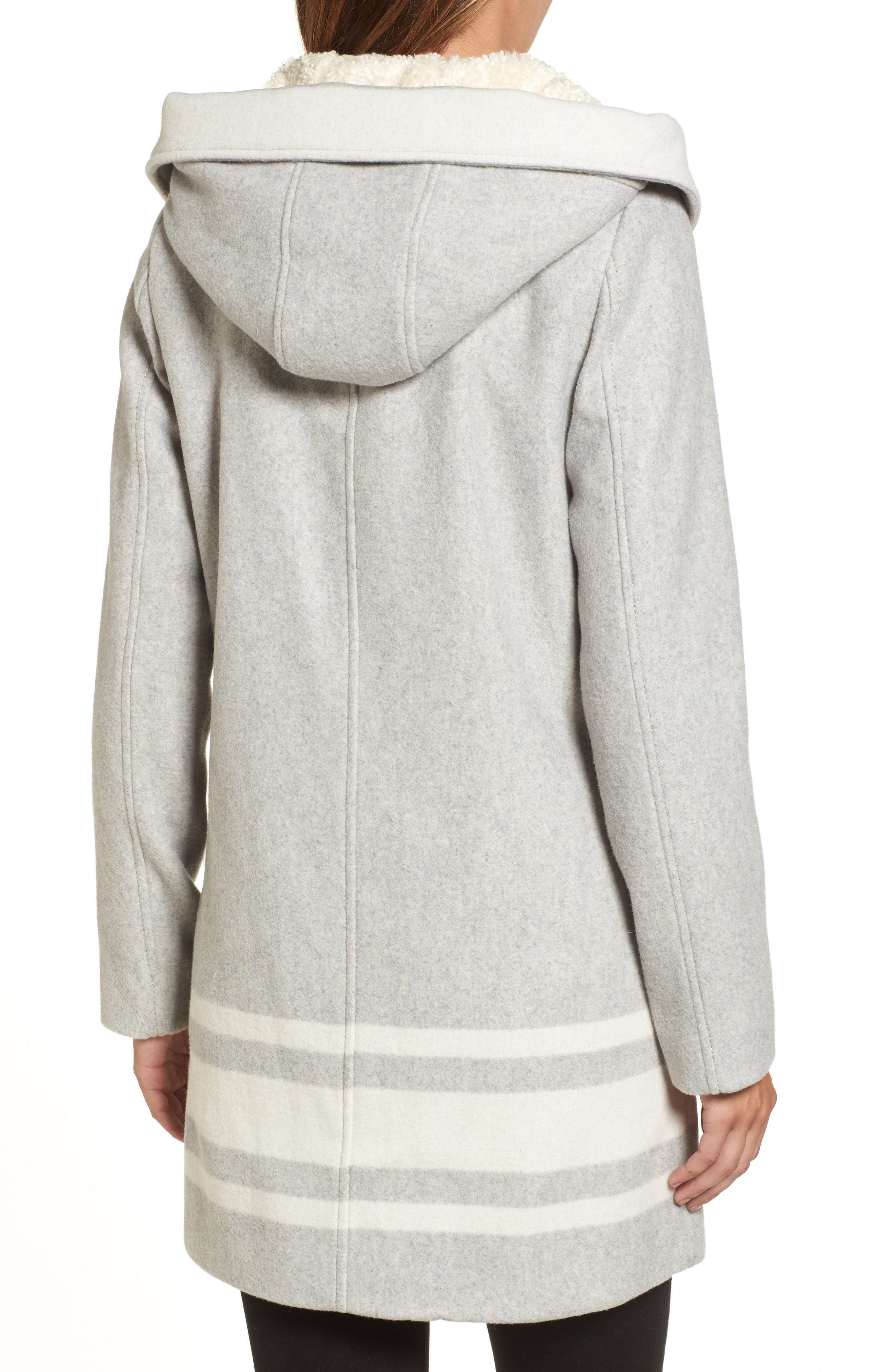 Alternate Image 2  - Vince Camuto Hooded Car Coat