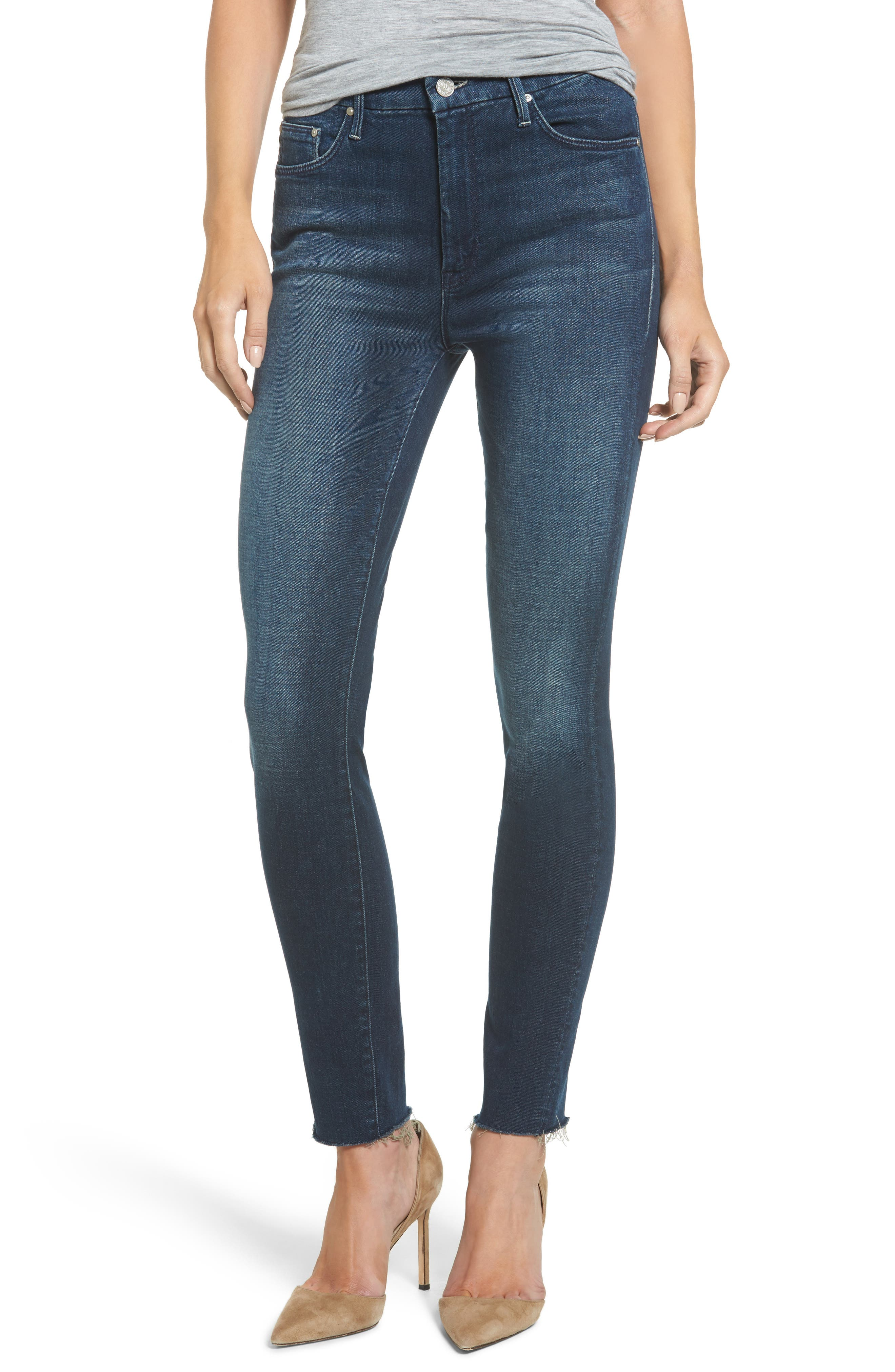 The Looker High Waist Ankle Skinny Jeans,                         Main,                         color, Moonlust Privateer