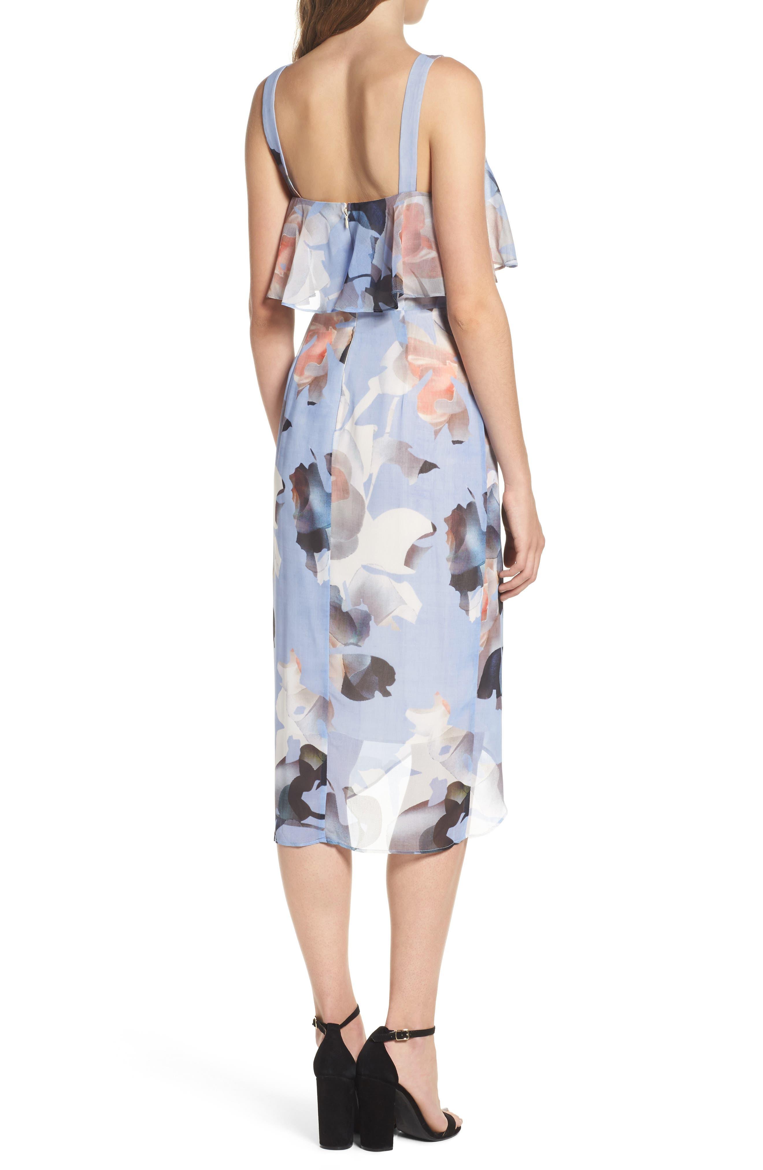 Elle Midi Dress,                             Alternate thumbnail 2, color,                             Print