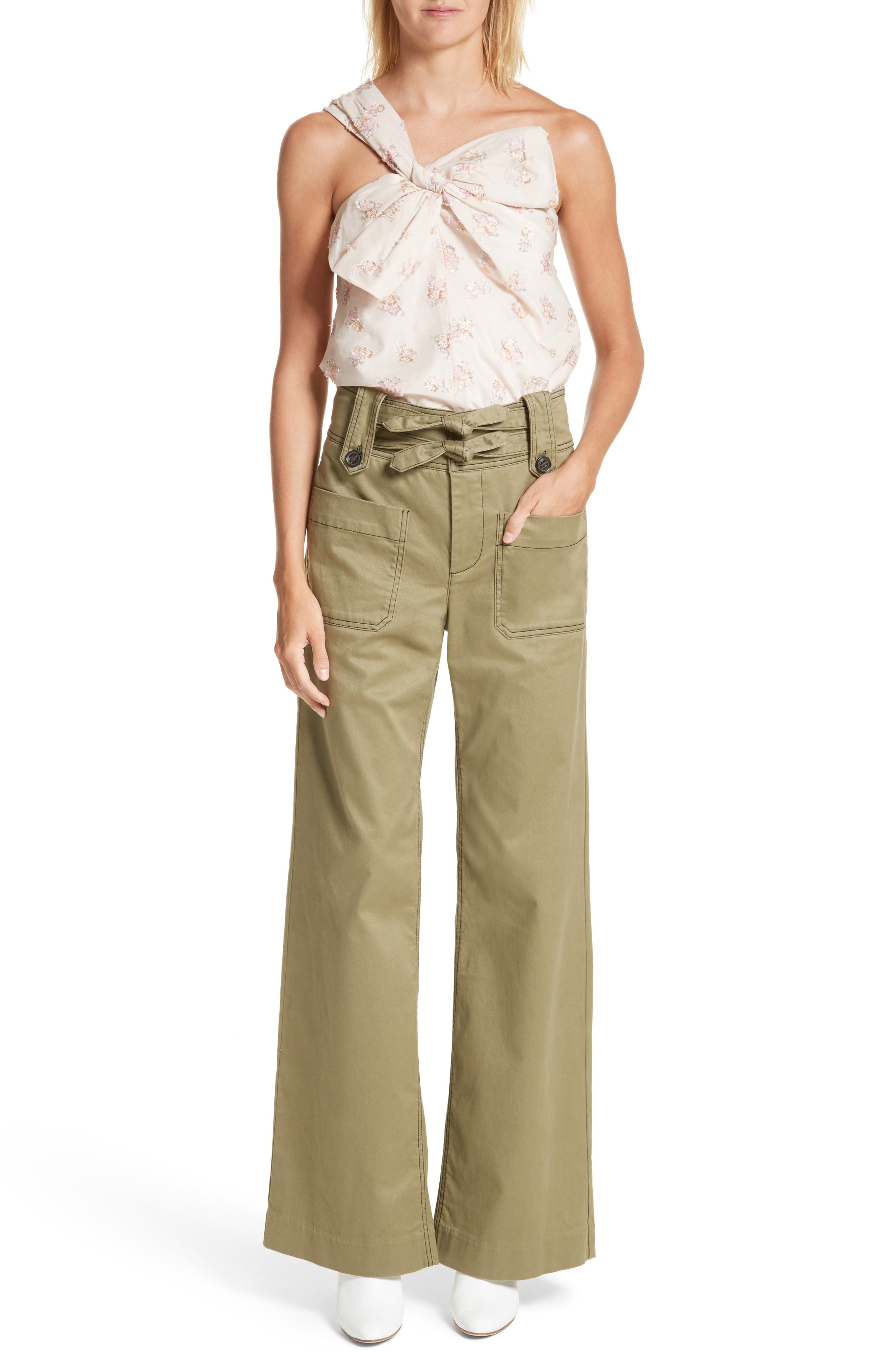 Alternate Image 2  - Rebecca Taylor High Waist Twill Pants