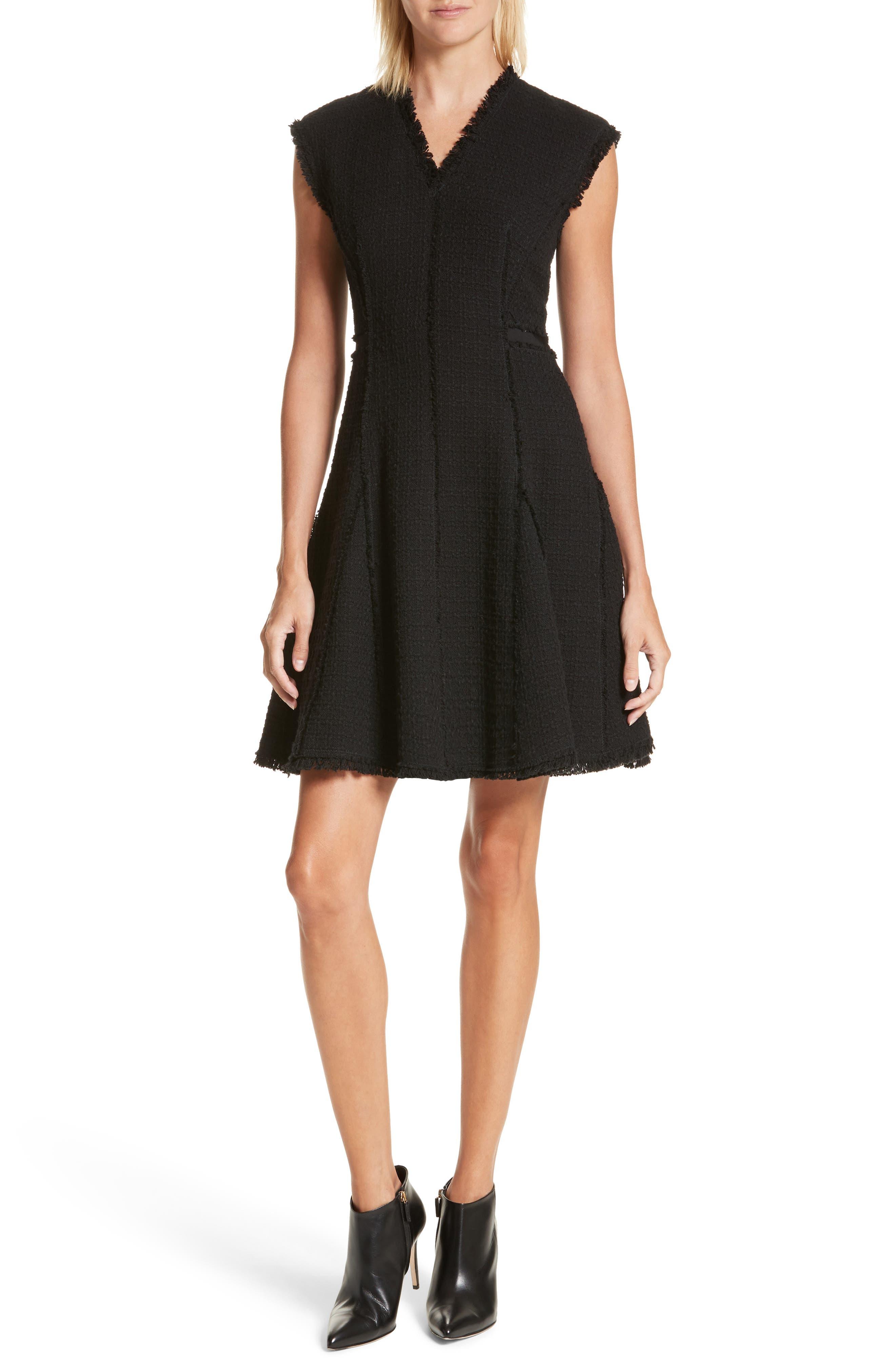 Rebecca Taylor V-Neck Tweed Dress