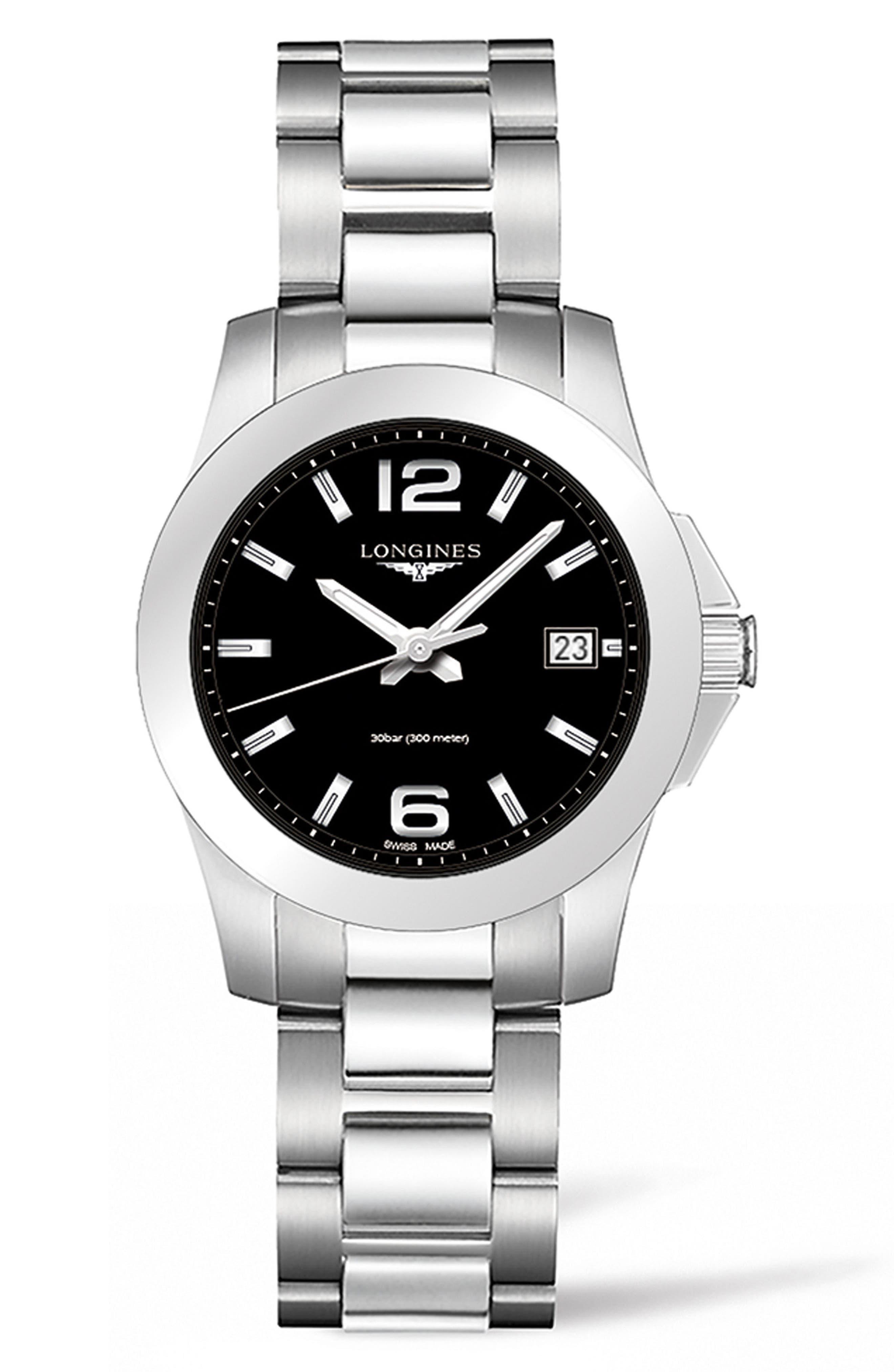 LONGINES Conquest Bracelet Watch, 34mm