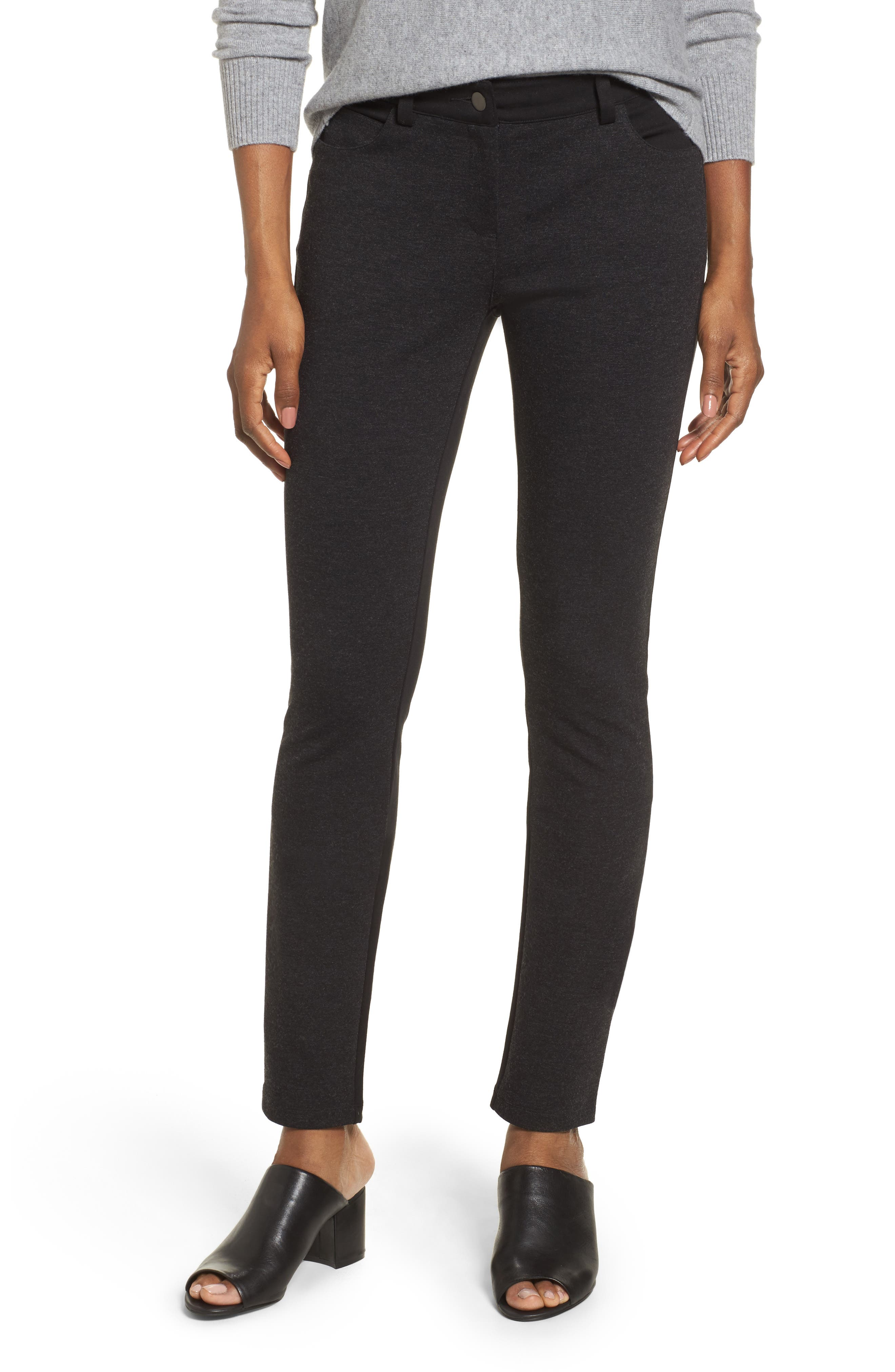 Eileen Fisher Mixed Media Skinny Jeans