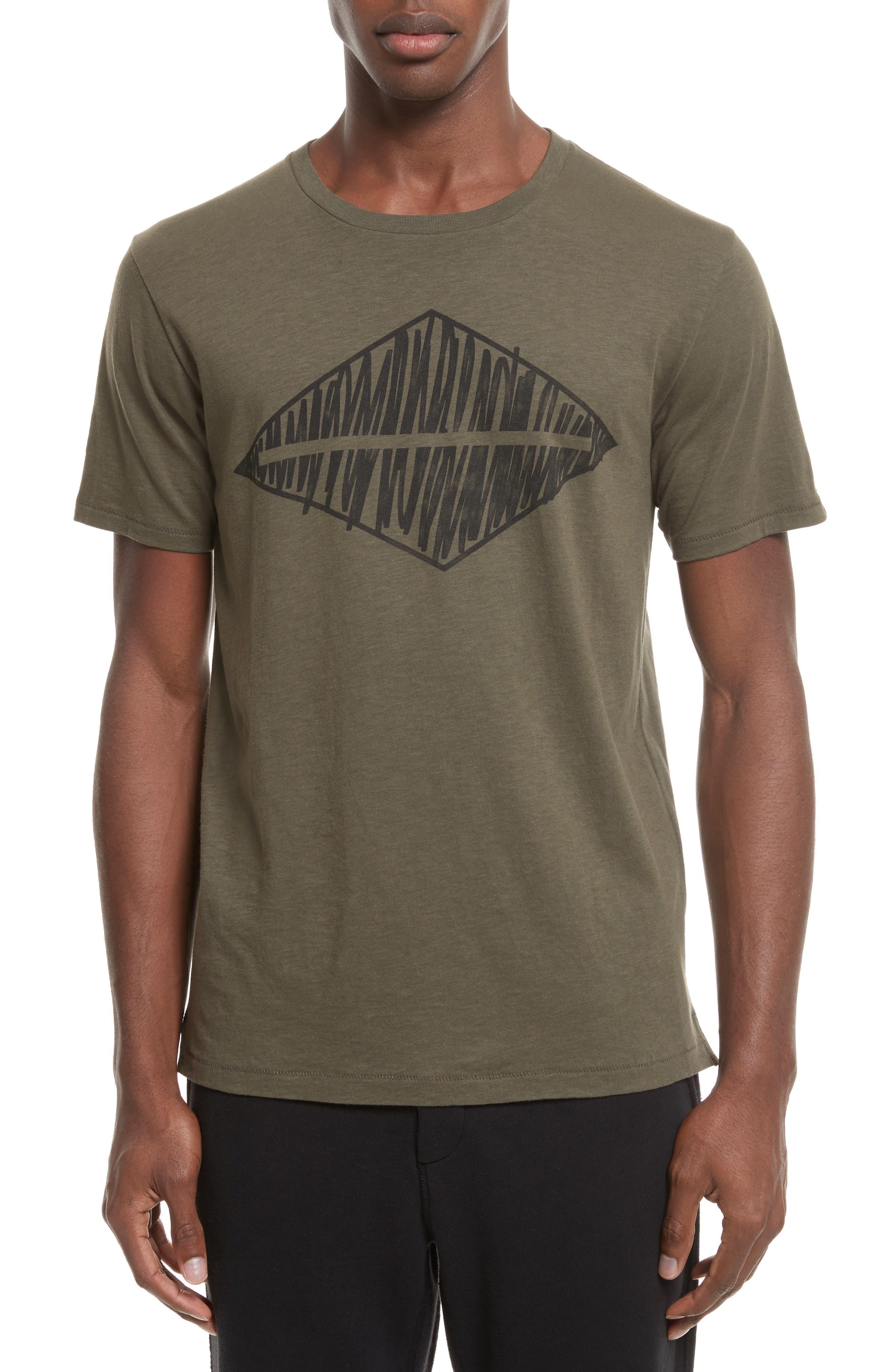 Diamond Graphic T-Shirt,                         Main,                         color, Army