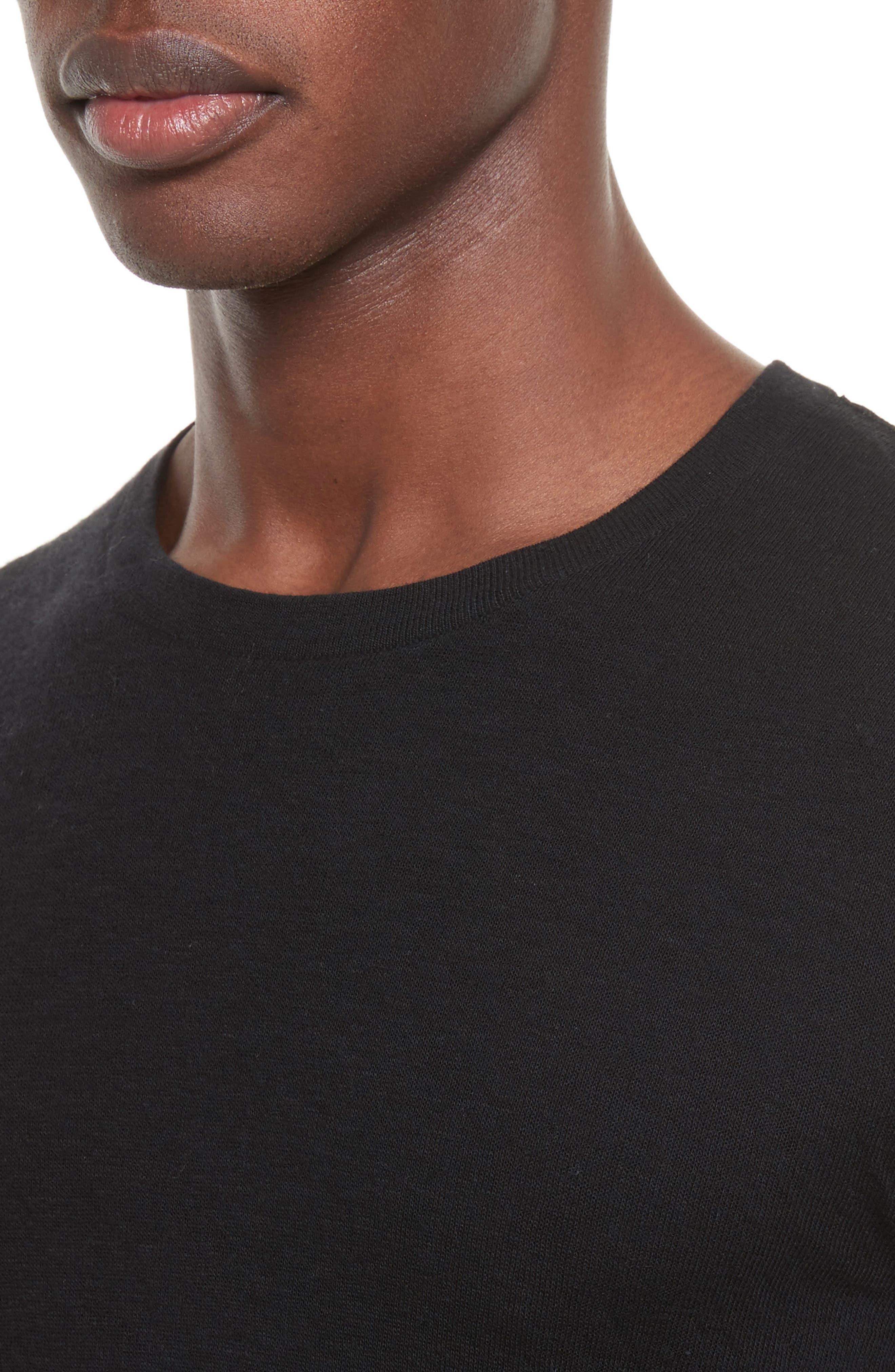 Tripp Crewneck Sweater,                             Alternate thumbnail 4, color,                             Black
