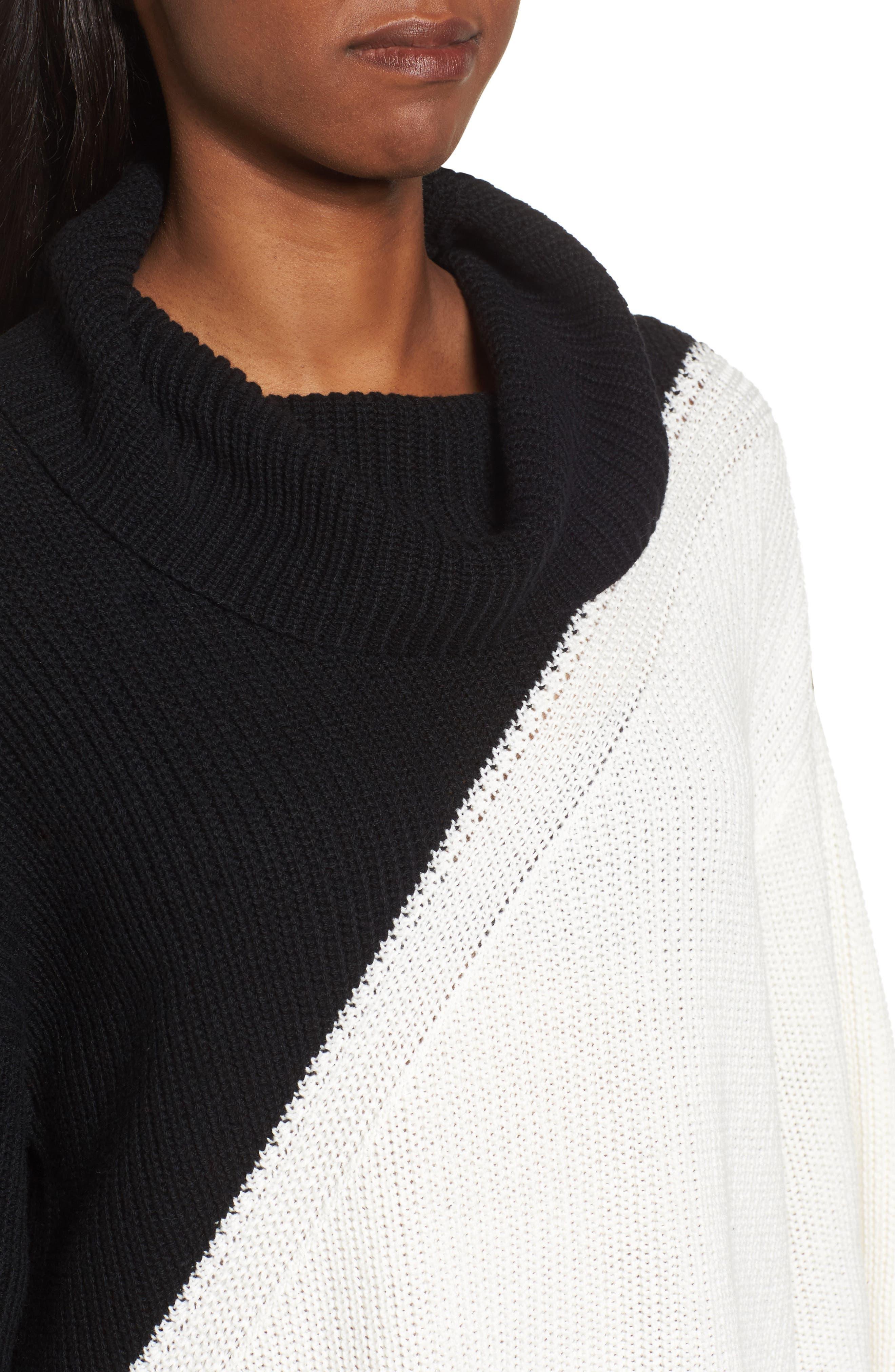 Alternate Image 4  - Chaus Colorblock Cowl Neck Sweater