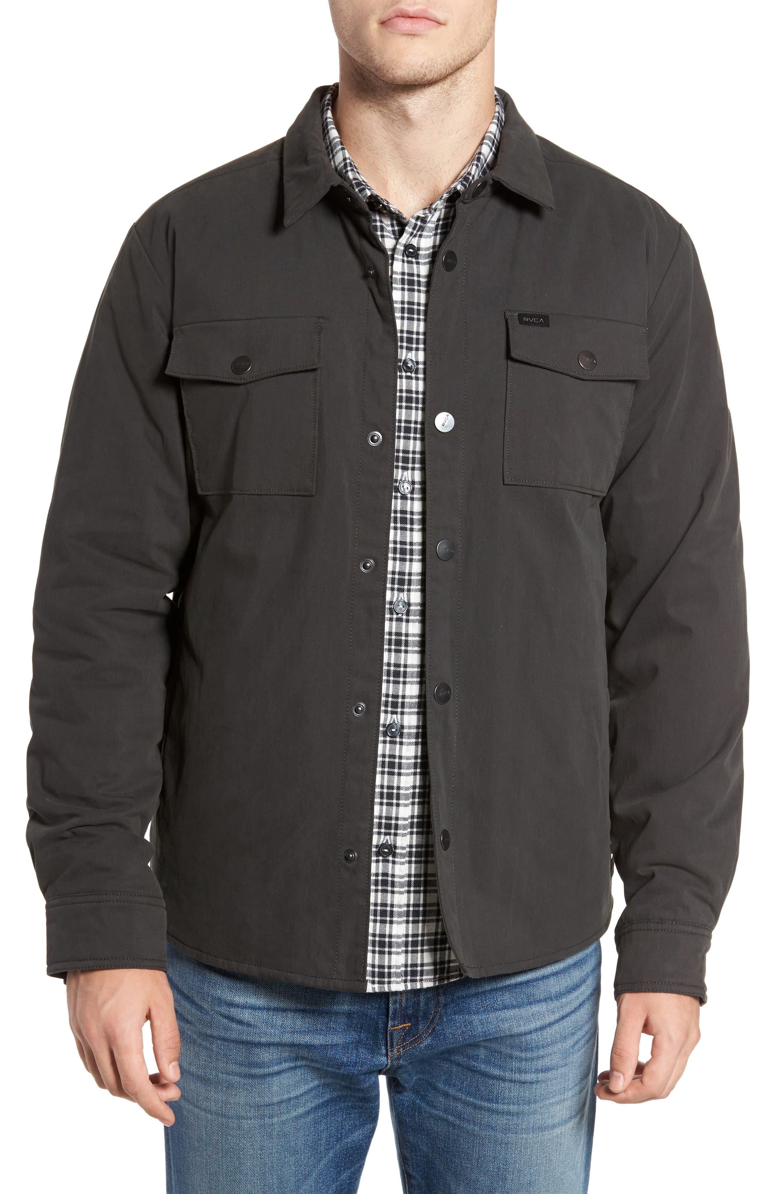 Officer's Shirt Jacket,                             Main thumbnail 1, color,                             Pirate Black
