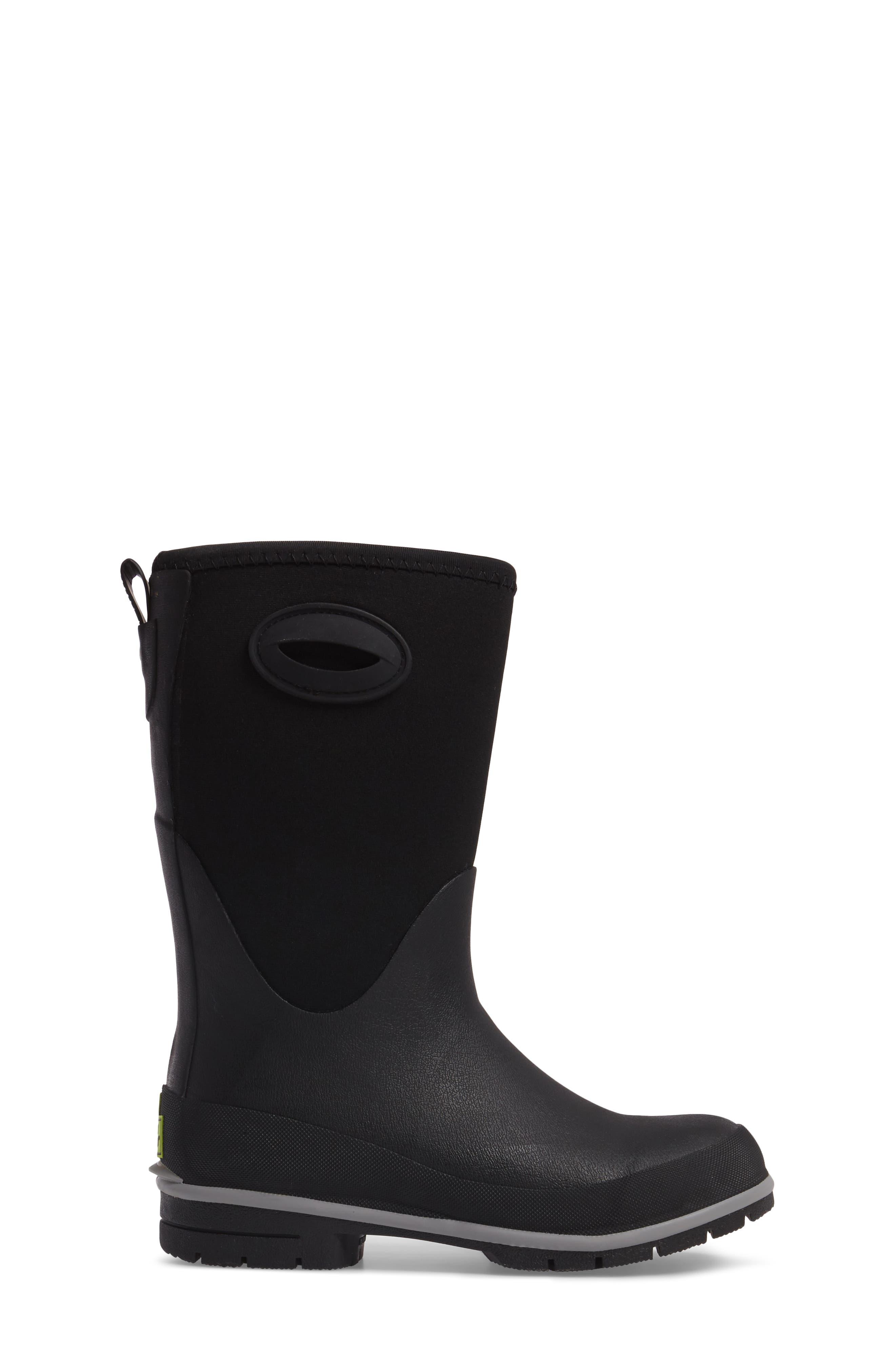 Neoprene Insulated Boot,                             Alternate thumbnail 3, color,                             Black