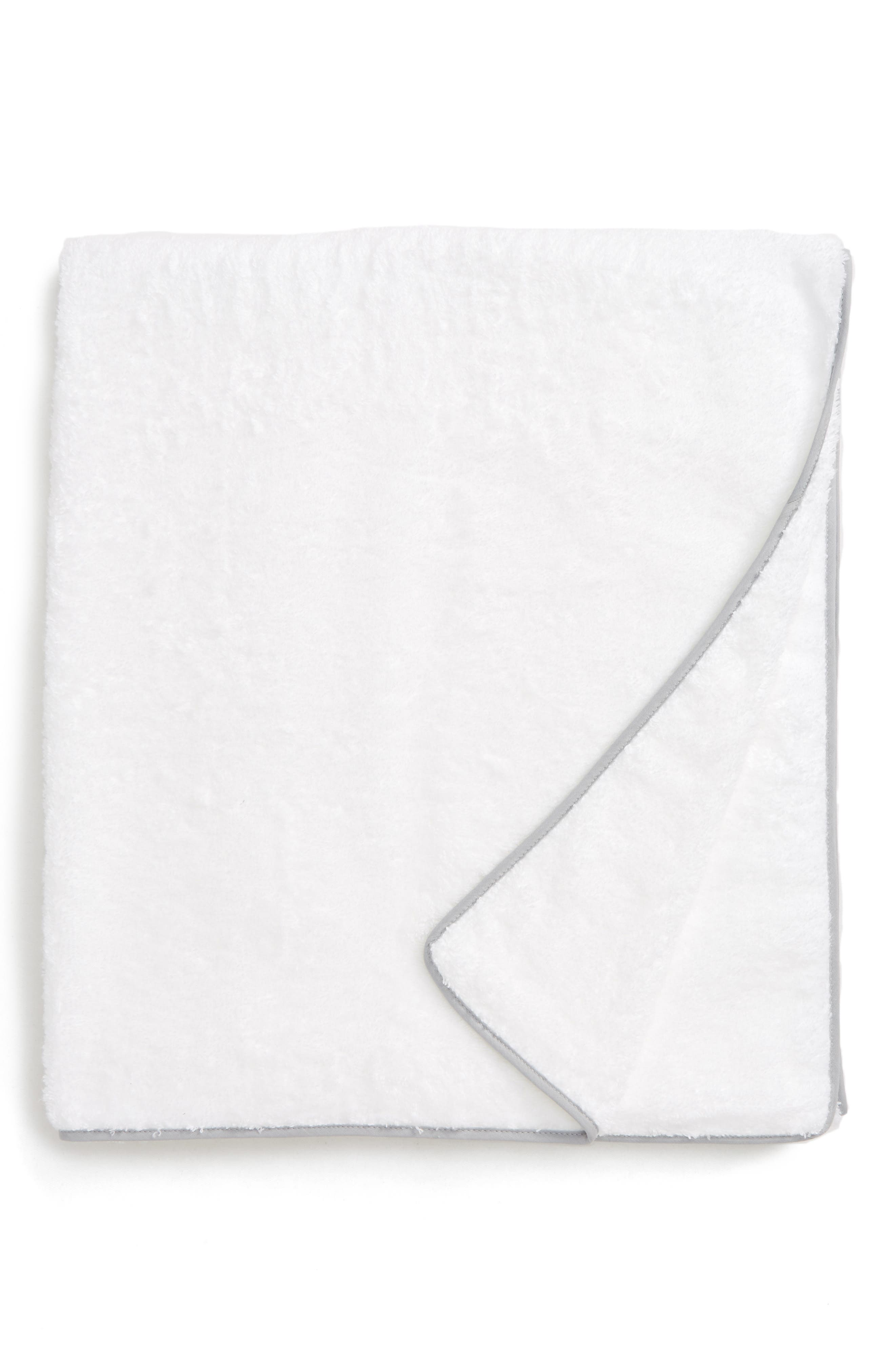 Cairo Bath Towel,                         Main,                         color, Silver