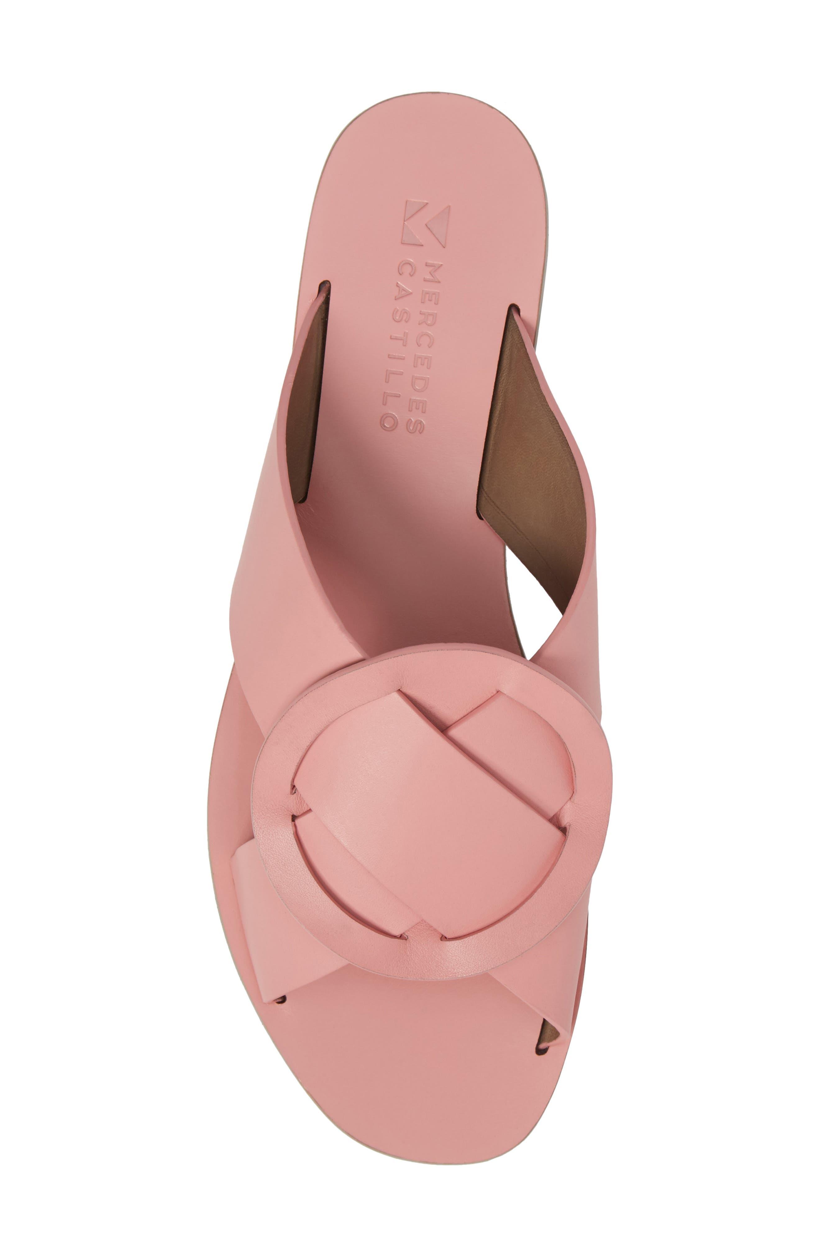 Carlein Slide Sandal,                             Alternate thumbnail 6, color,                             Pink Peony Leather