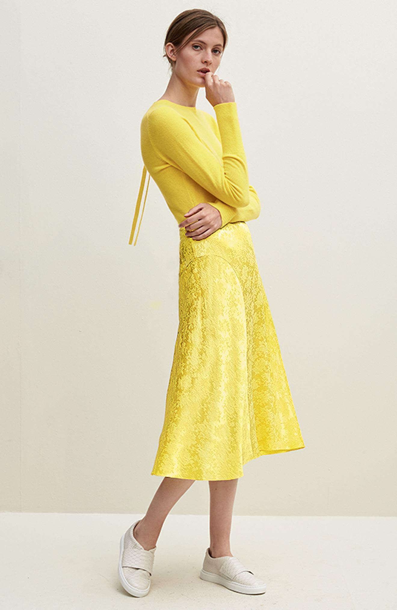 Alternate Image 7  - Lewit Jacquard Silk Midi Skirt