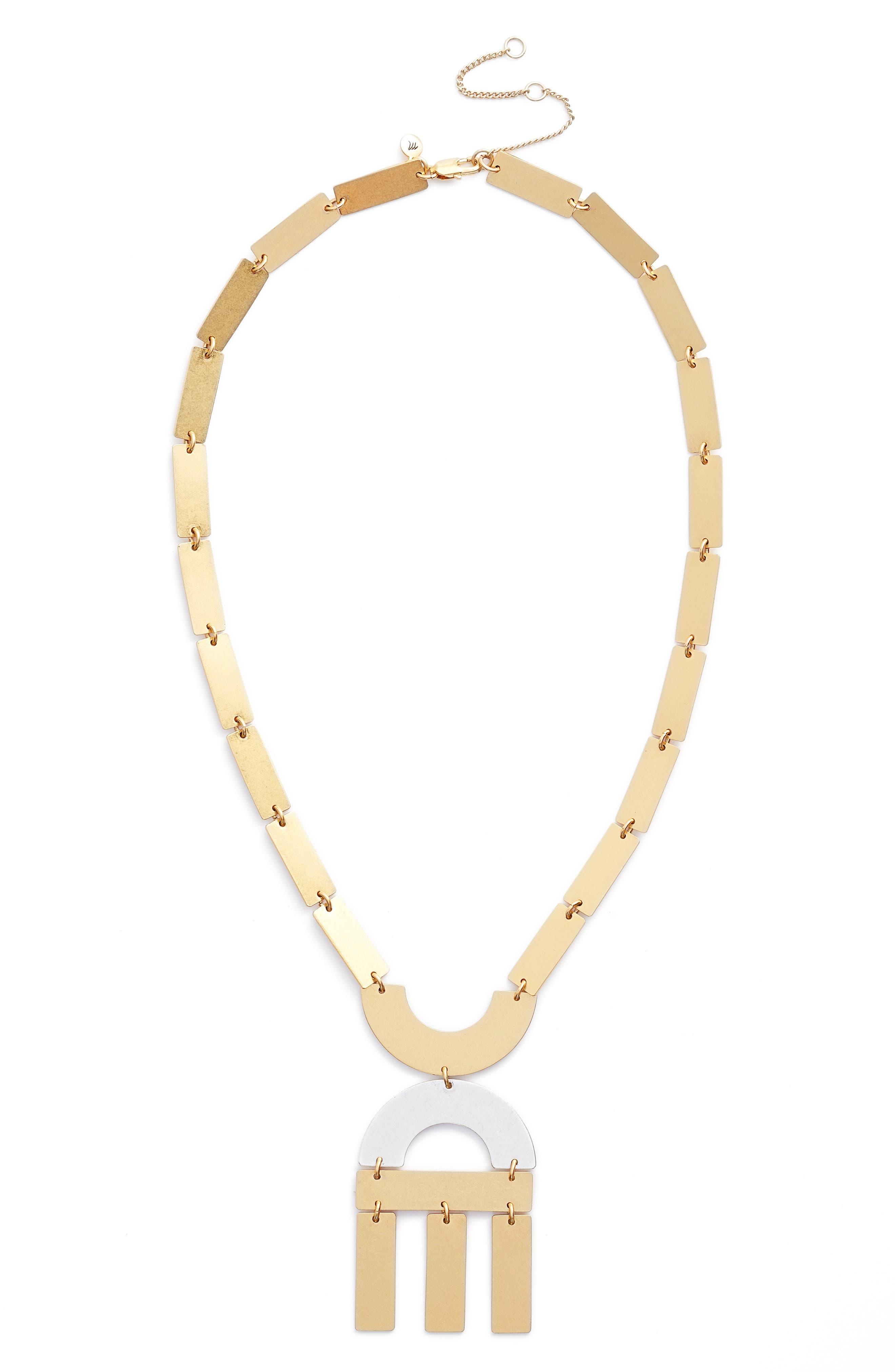 Main Image - Madewell Flatform Statement Necklace