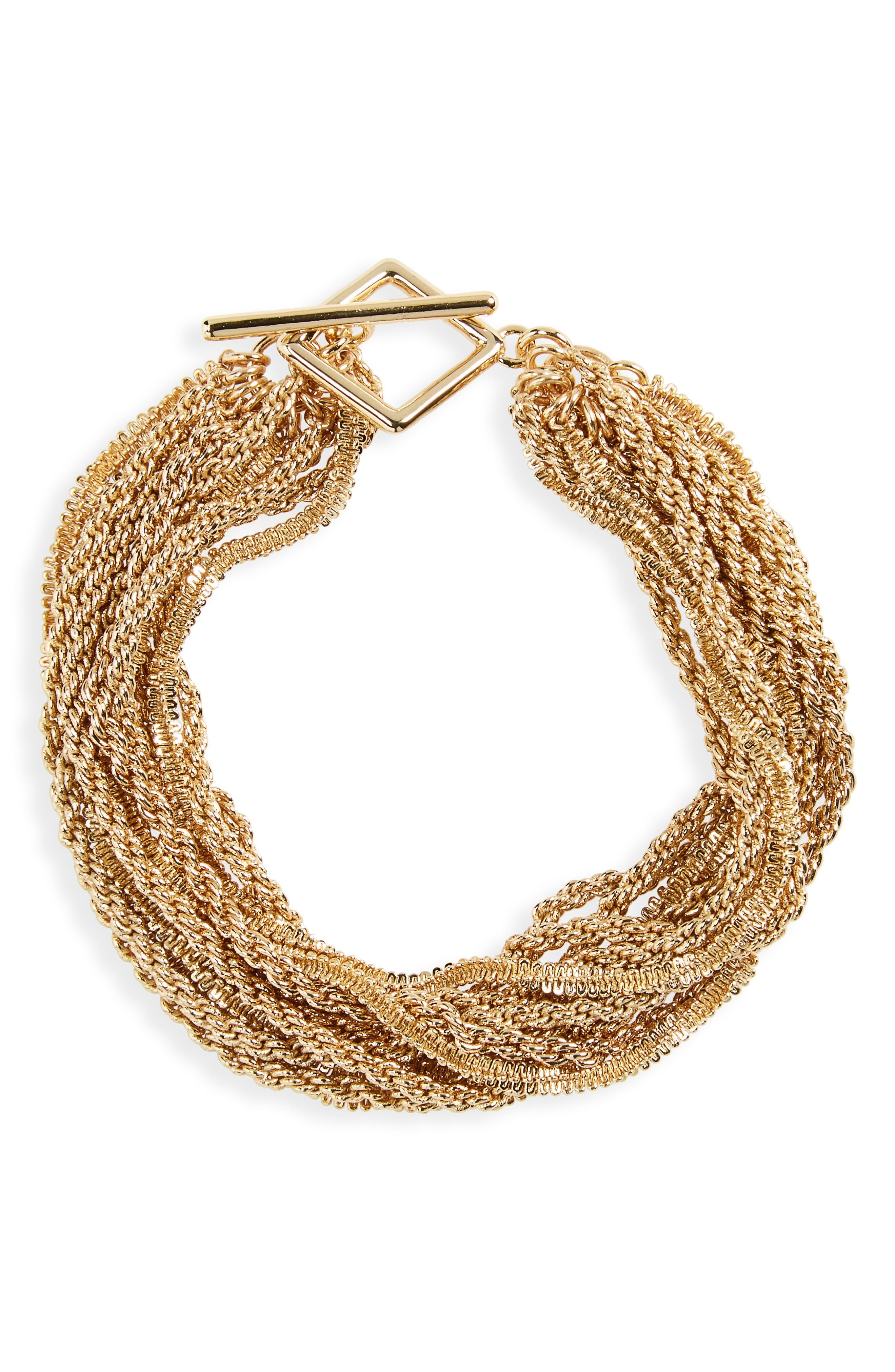 HALOGEN<SUP>®</SUP> Chain Rope Bracelet