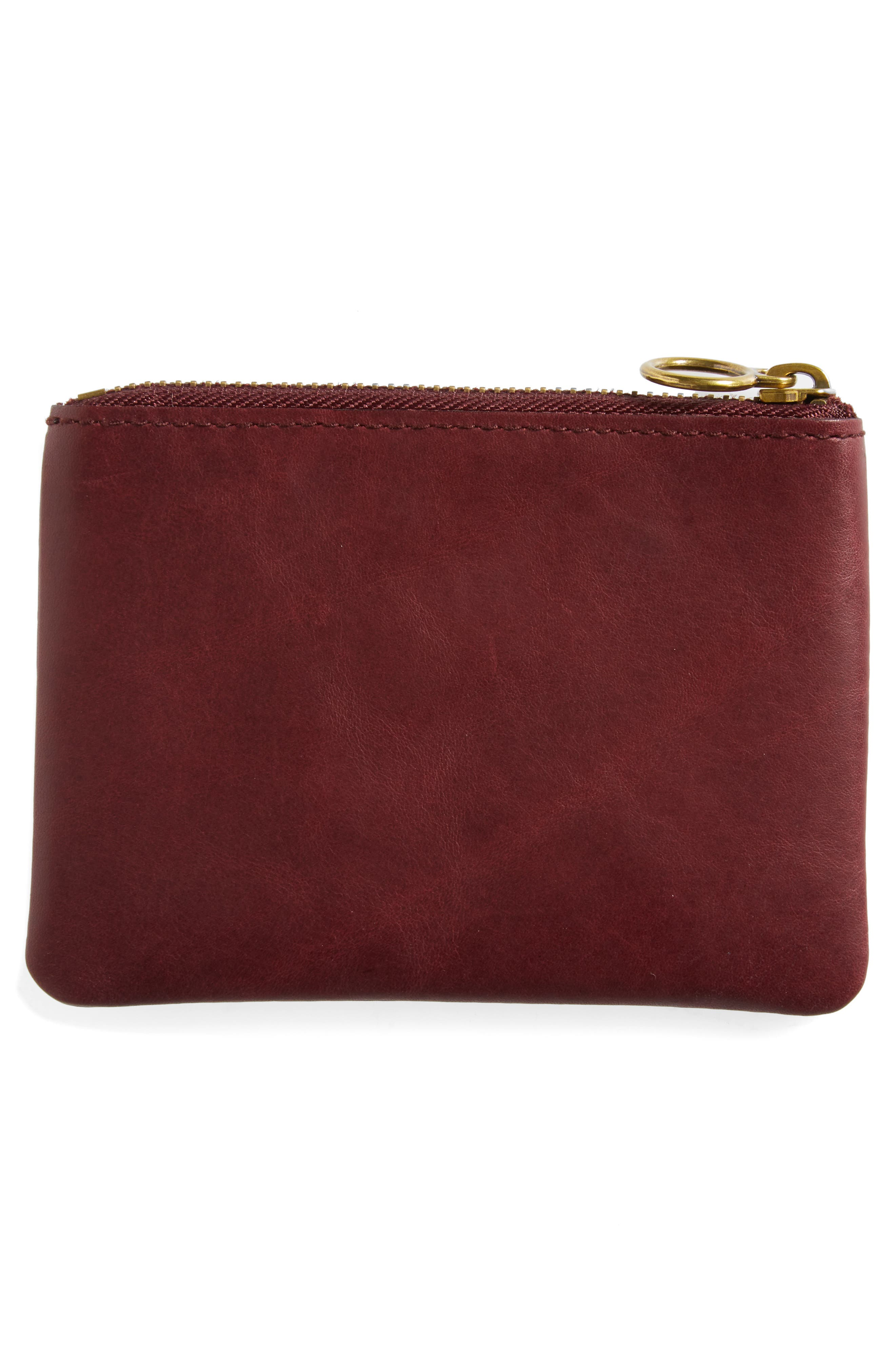 The Leather Pouch Wallet,                             Alternate thumbnail 4, color,                             Dark Cabernet
