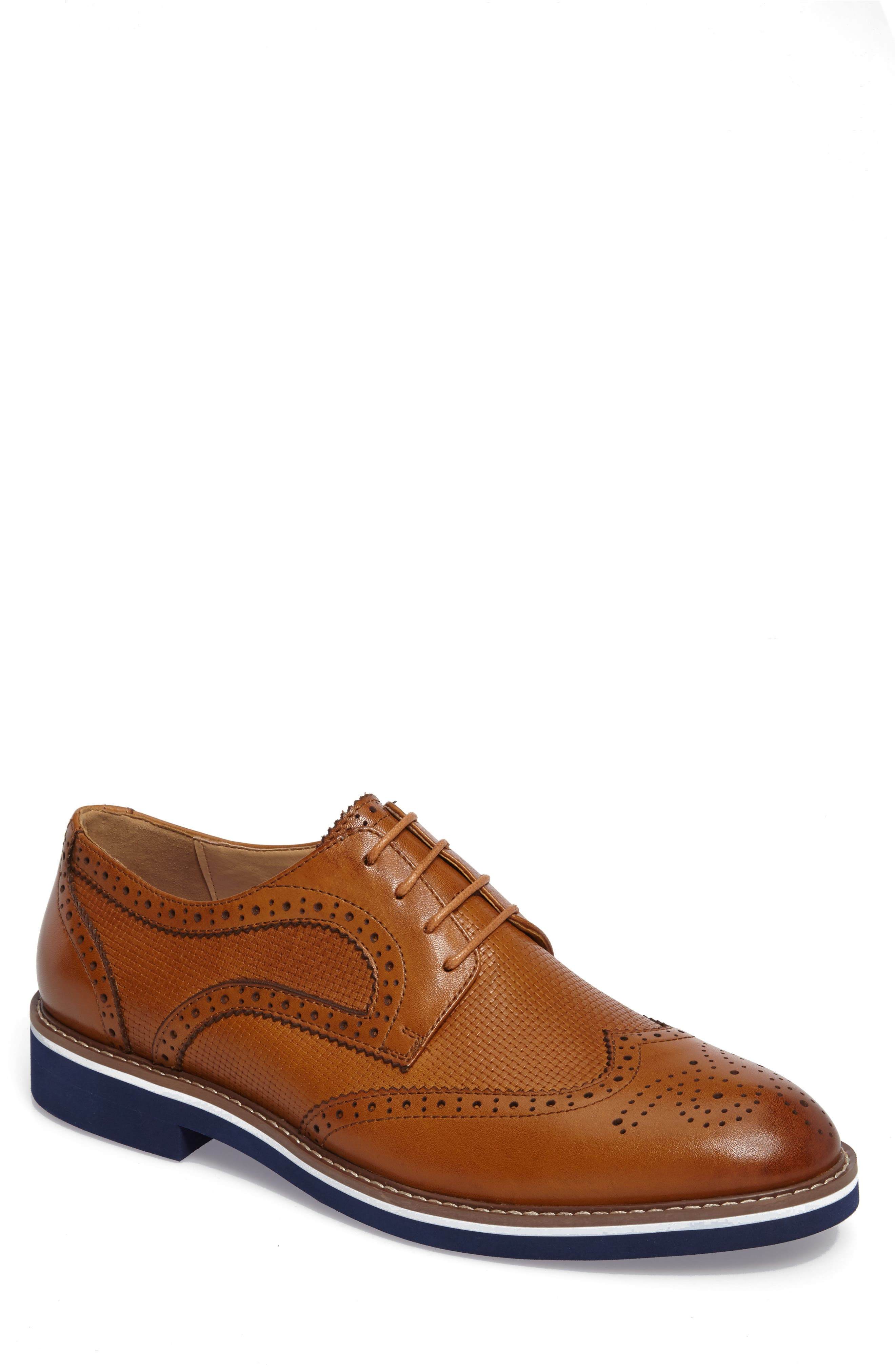 Northfields Spectator Shoe,                             Main thumbnail 1, color,                             Cognac Leather