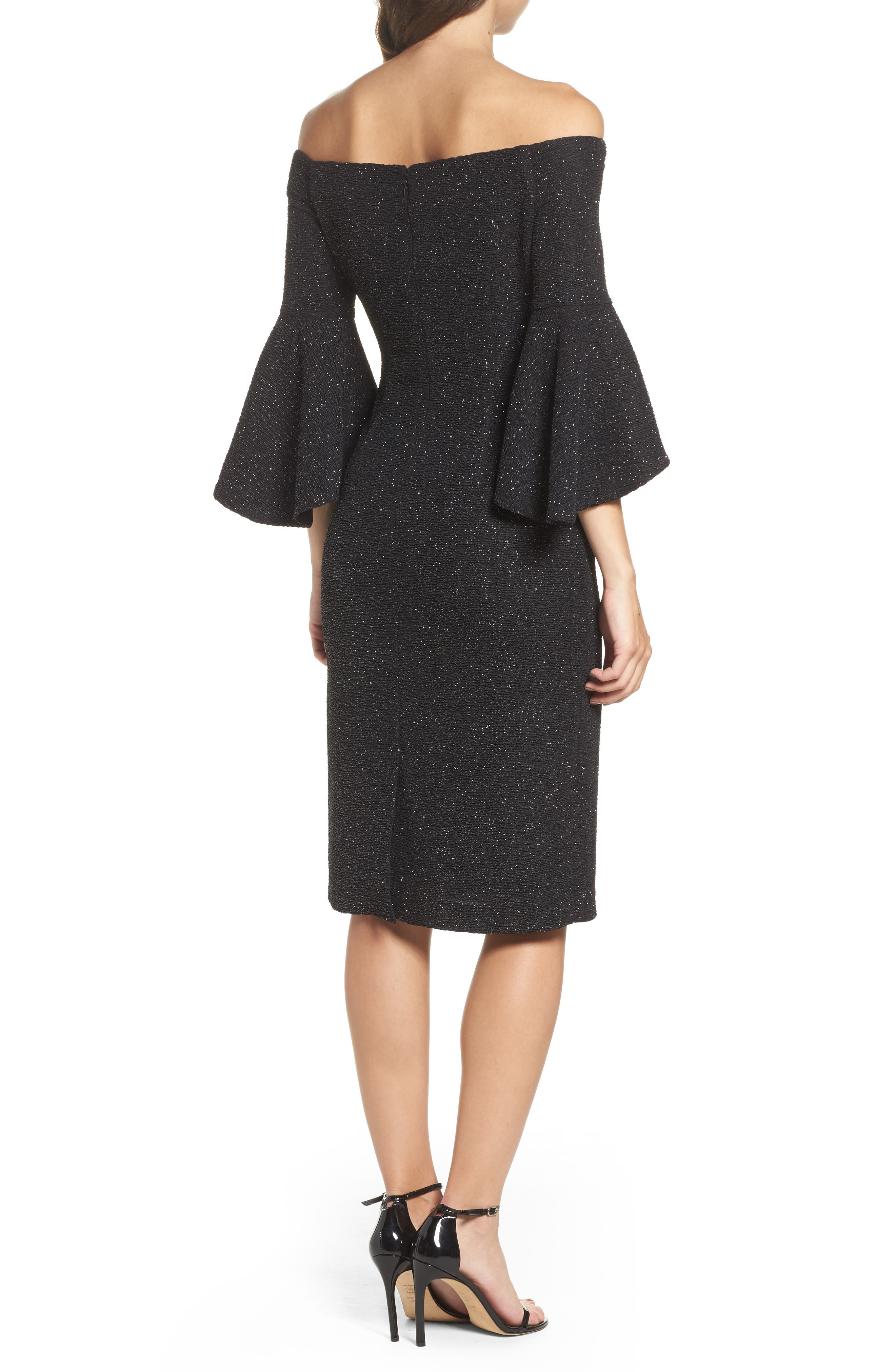 Alternate Image 2  - Eliza J Off the Shoulder Bell Sleeve Sheath Dress