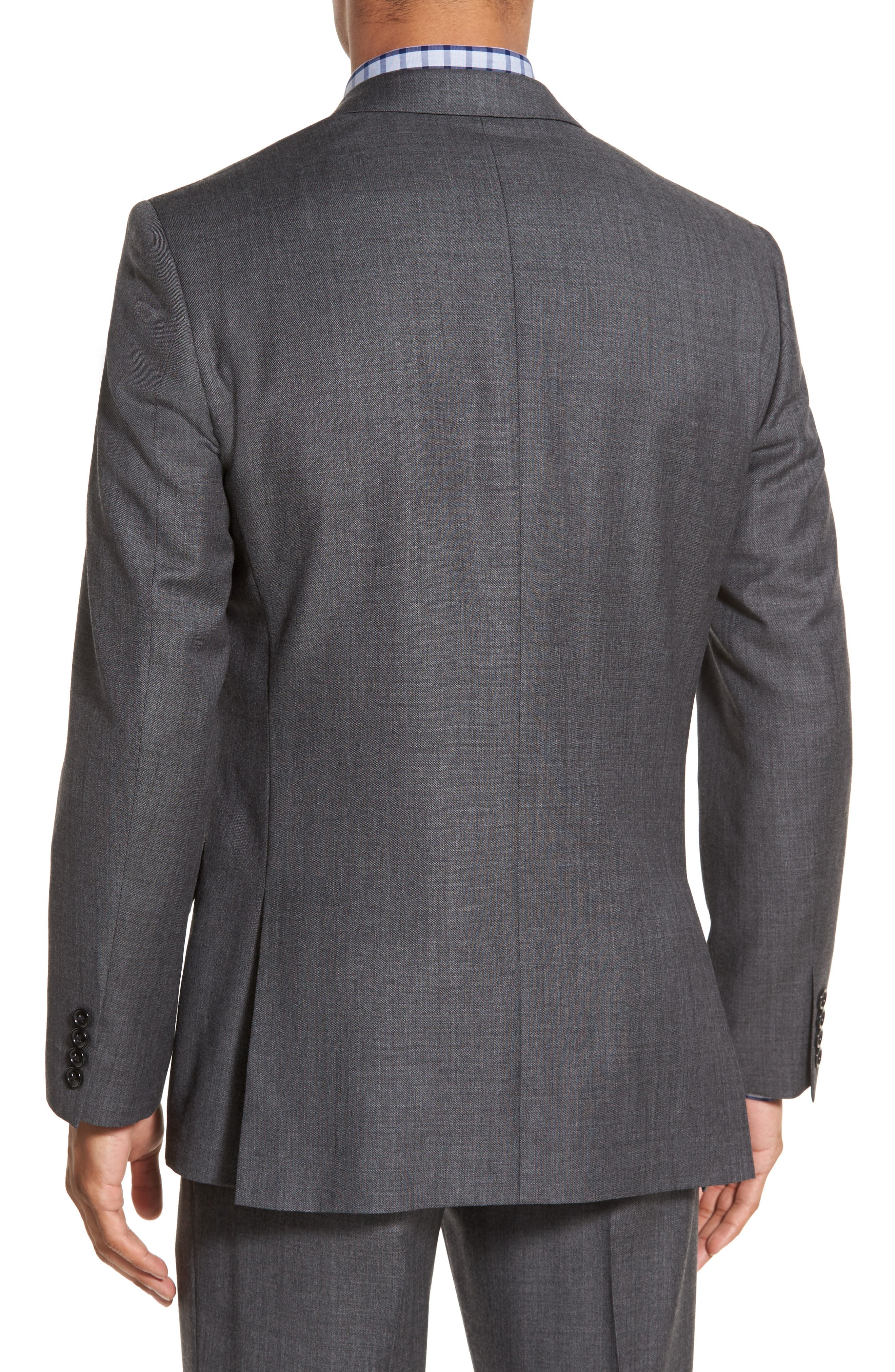 J.Crew Ludlow Trim Fit Solid Wool Sport Coat,                             Alternate thumbnail 2, color,                             Charcoal