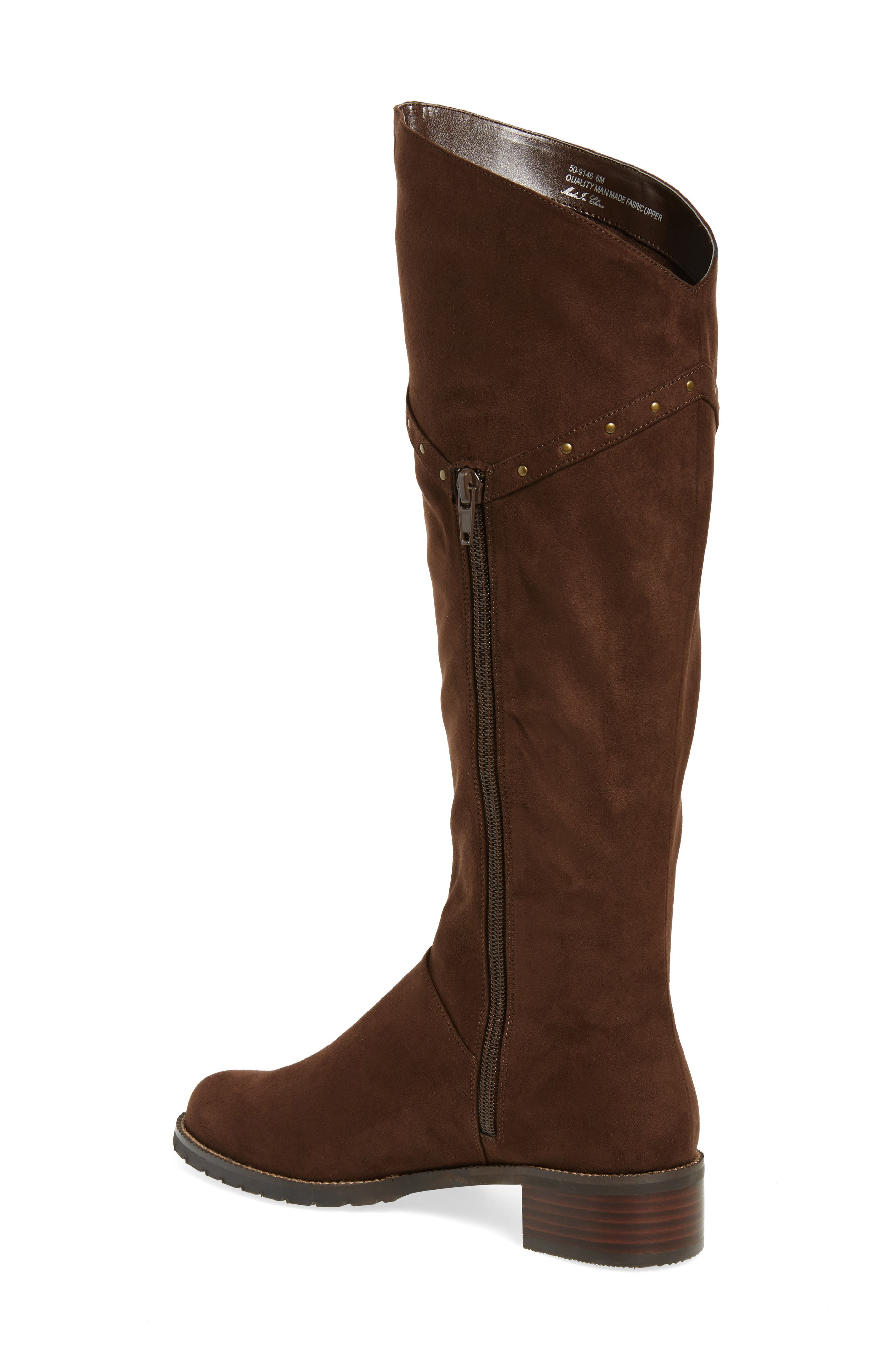 Alanis II Tall Boot,                             Alternate thumbnail 2, color,                             Brown Suede