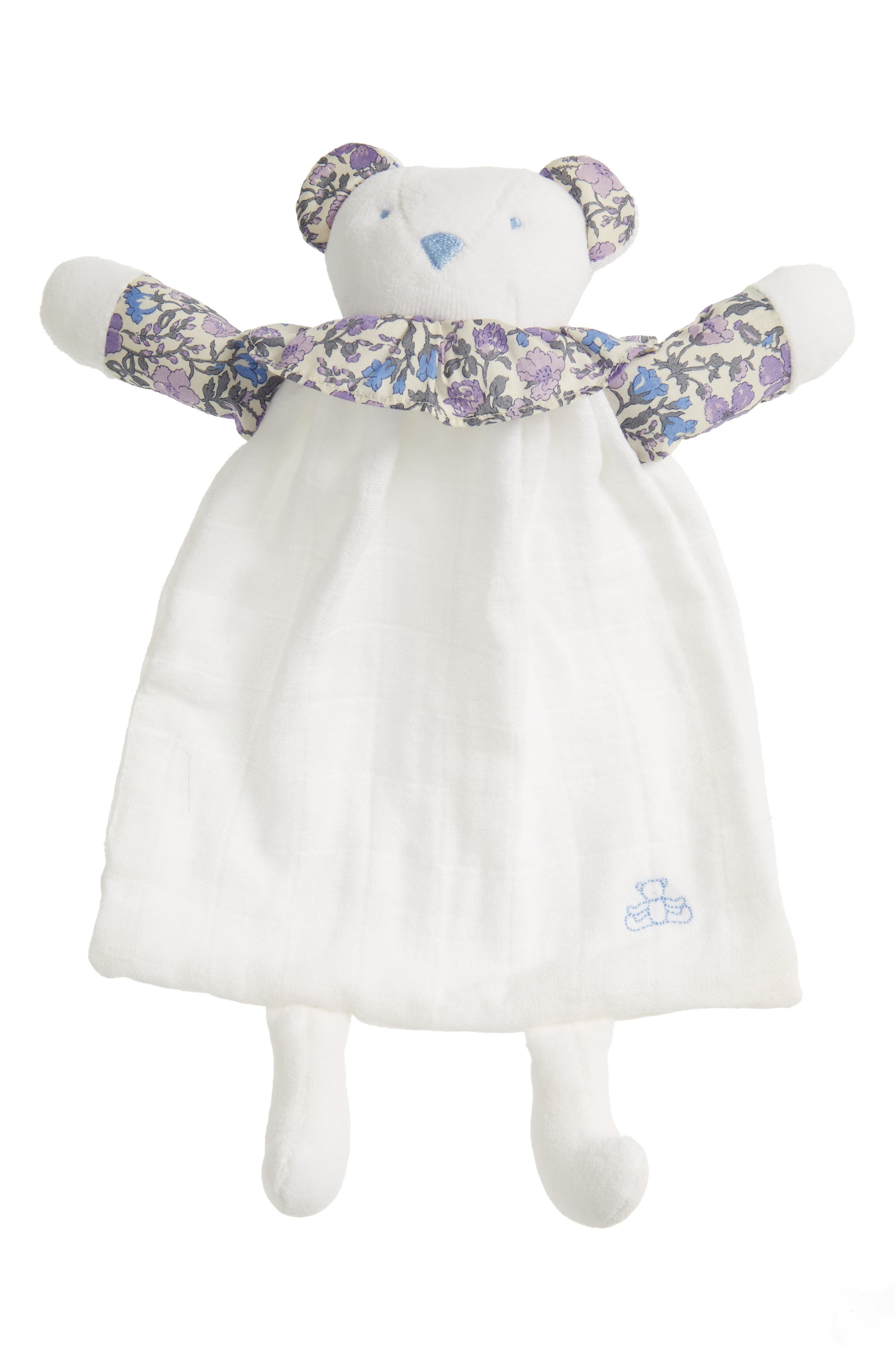 x Liberty of London Bear Lovey Toy,                         Main,                         color, Blue