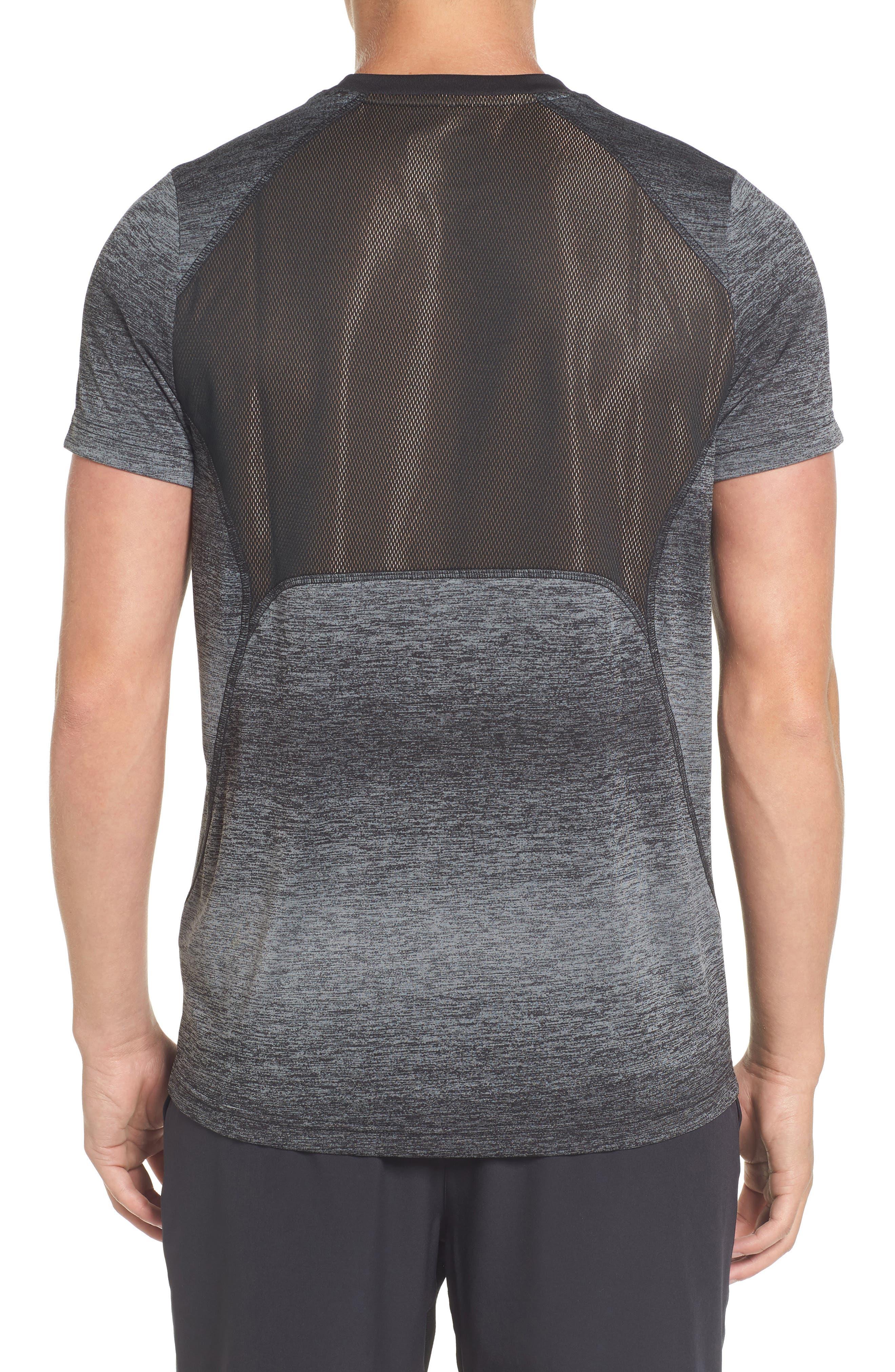 Ultra Dry Tech T-Shirt,                             Alternate thumbnail 2, color,                             Rk6 Black/ Black-Copper Orange