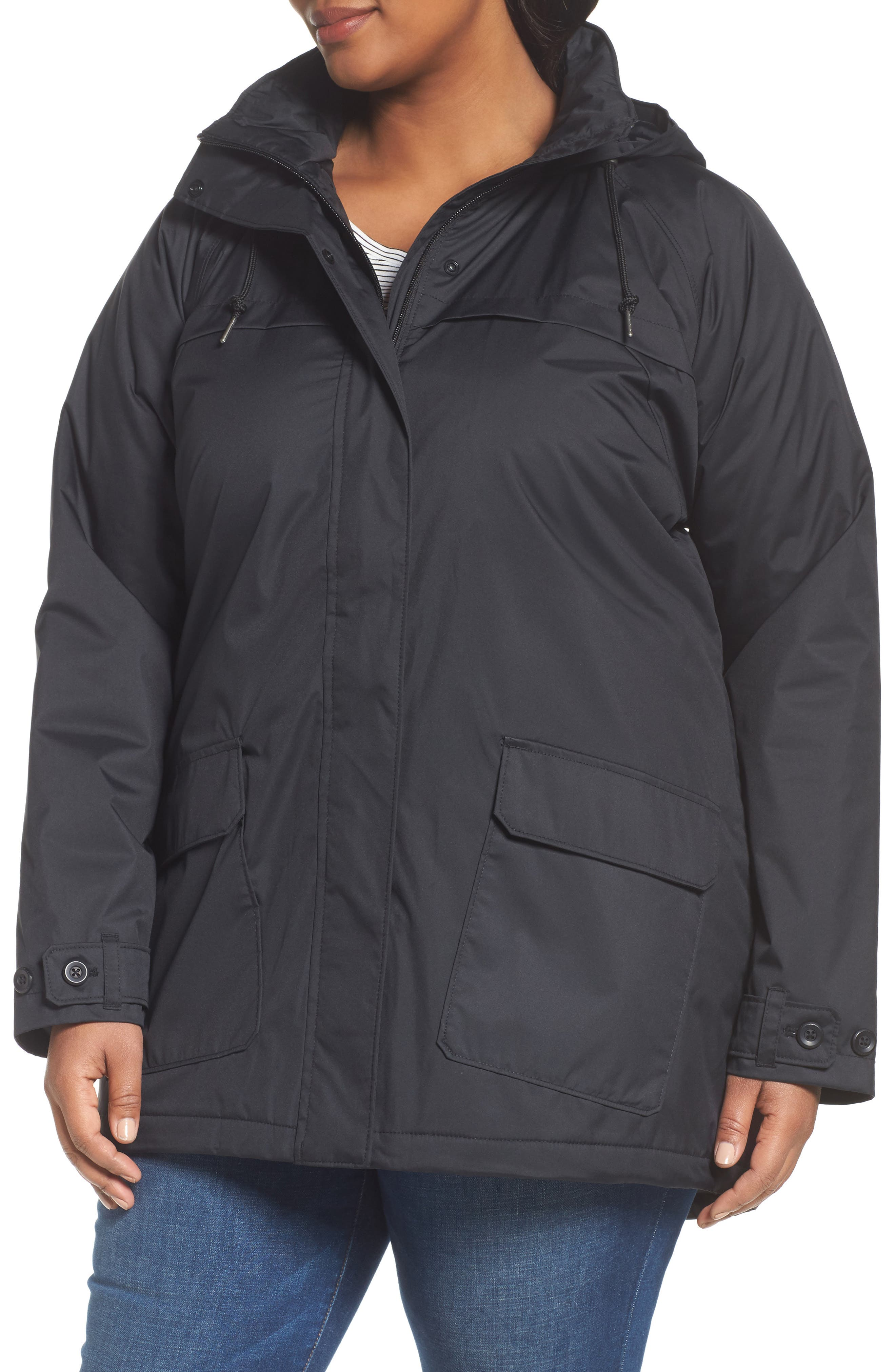Alternate Image 4  - Columbia Lookout Crest Omni-Tech Waterproof Jacket (Plus Size)