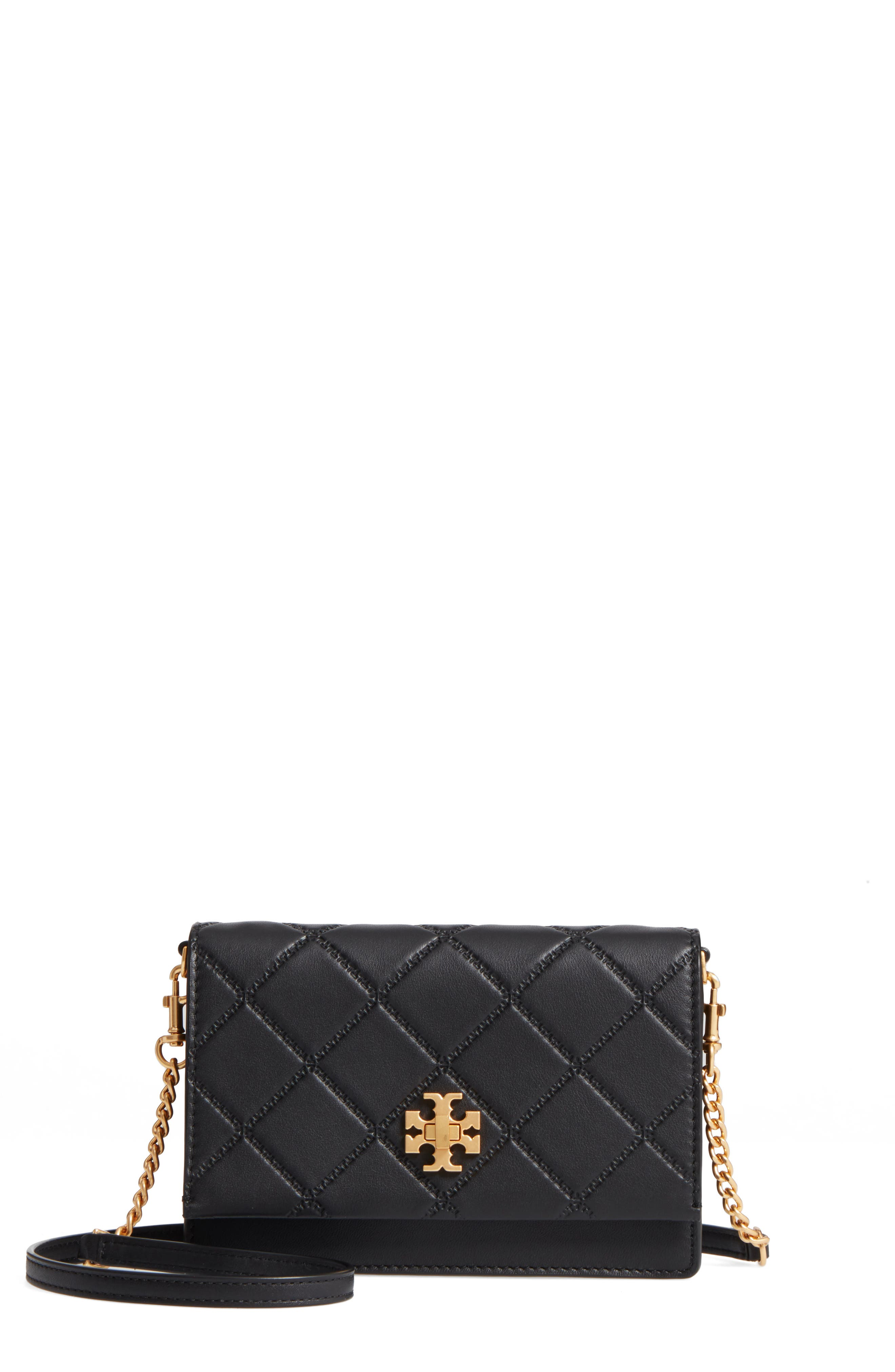 Mini Georgia Quilted Leather Shoulder Bag,                         Main,                         color, Black