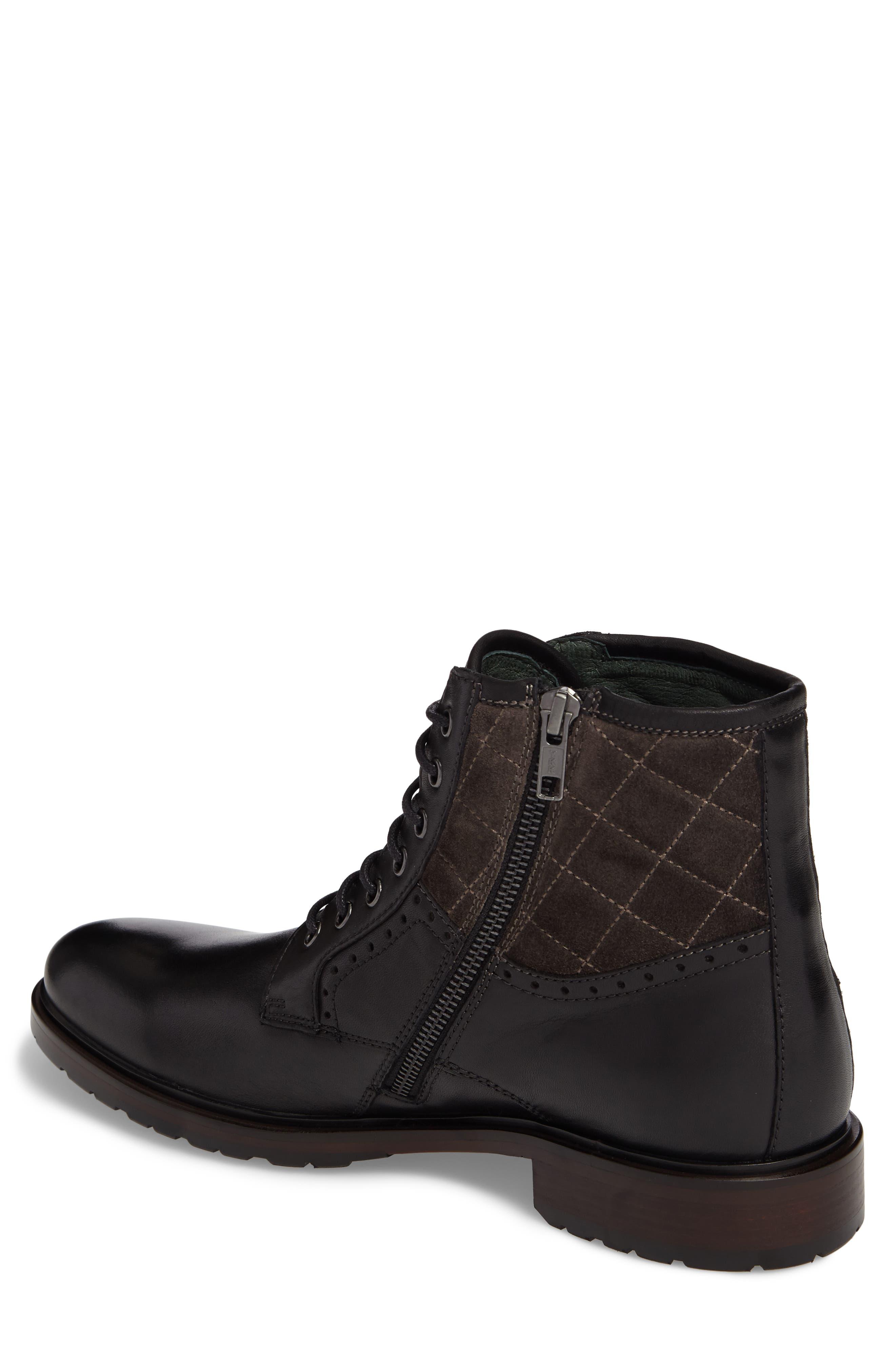 Myles Plain Toe Boot,                             Alternate thumbnail 2, color,                             Black Leather