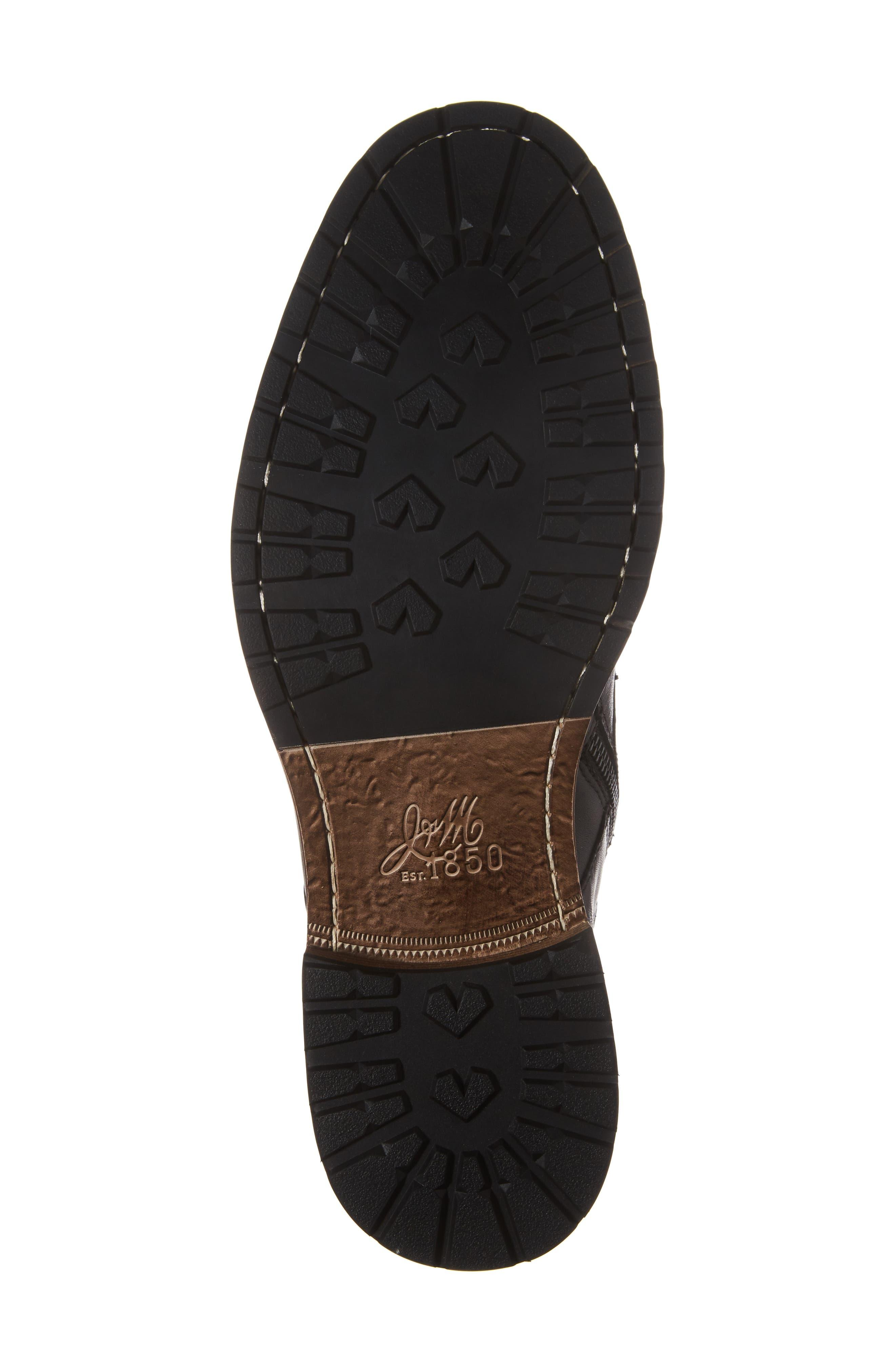 Myles Plain Toe Boot,                             Alternate thumbnail 6, color,                             Black Leather