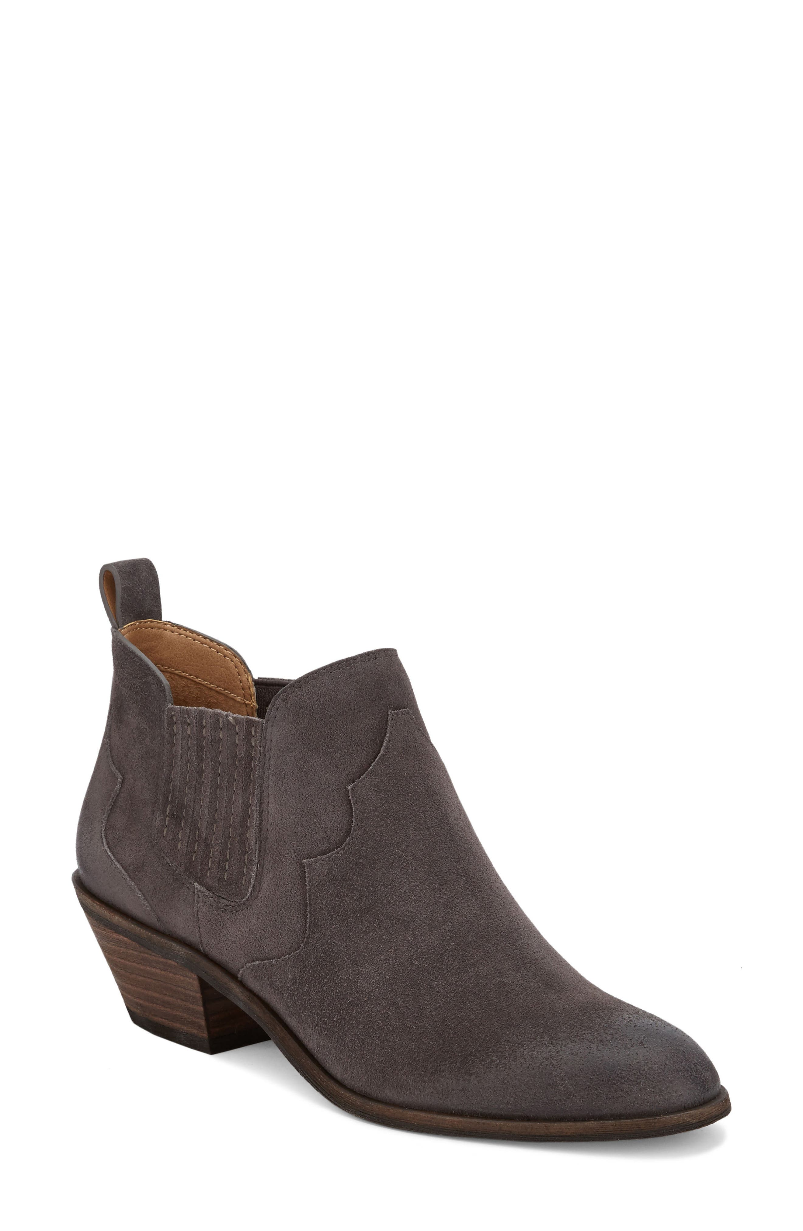Naomi Bootie,                             Main thumbnail 1, color,                             Charcoal Suede