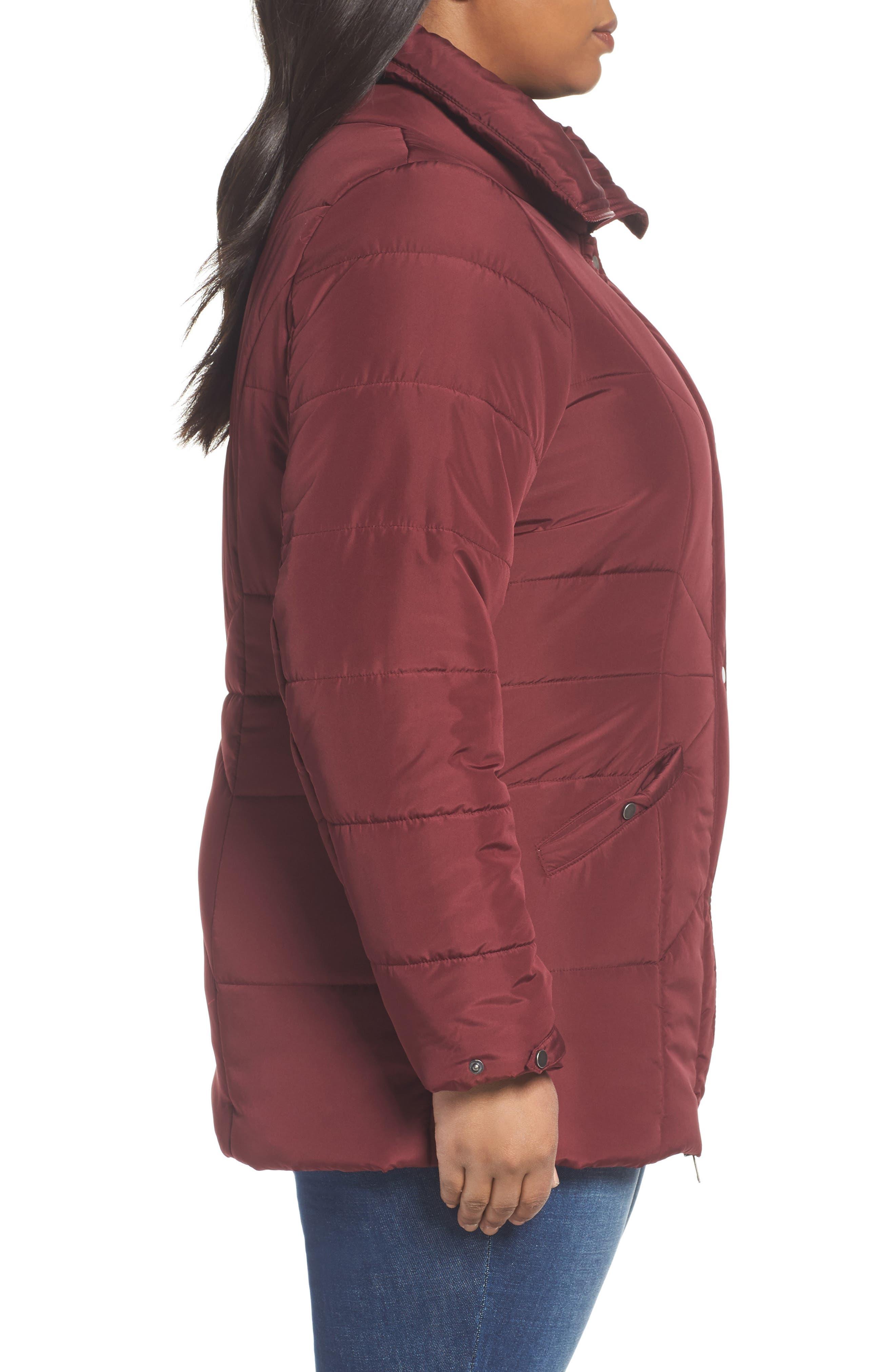 Alternate Image 3  - JUNAROSE Valsi Puffer Jacket (Plus Size)