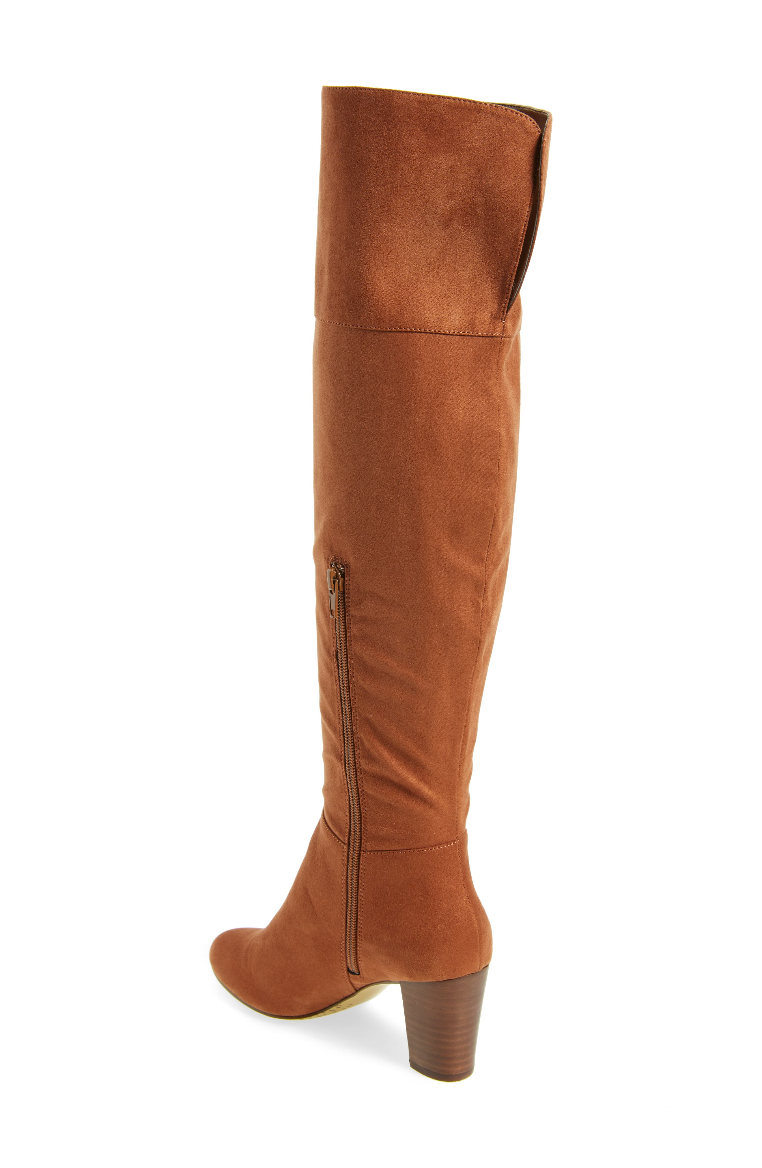 Telluride II Over the Knee Boot,                             Alternate thumbnail 2, color,                             Camel Suede