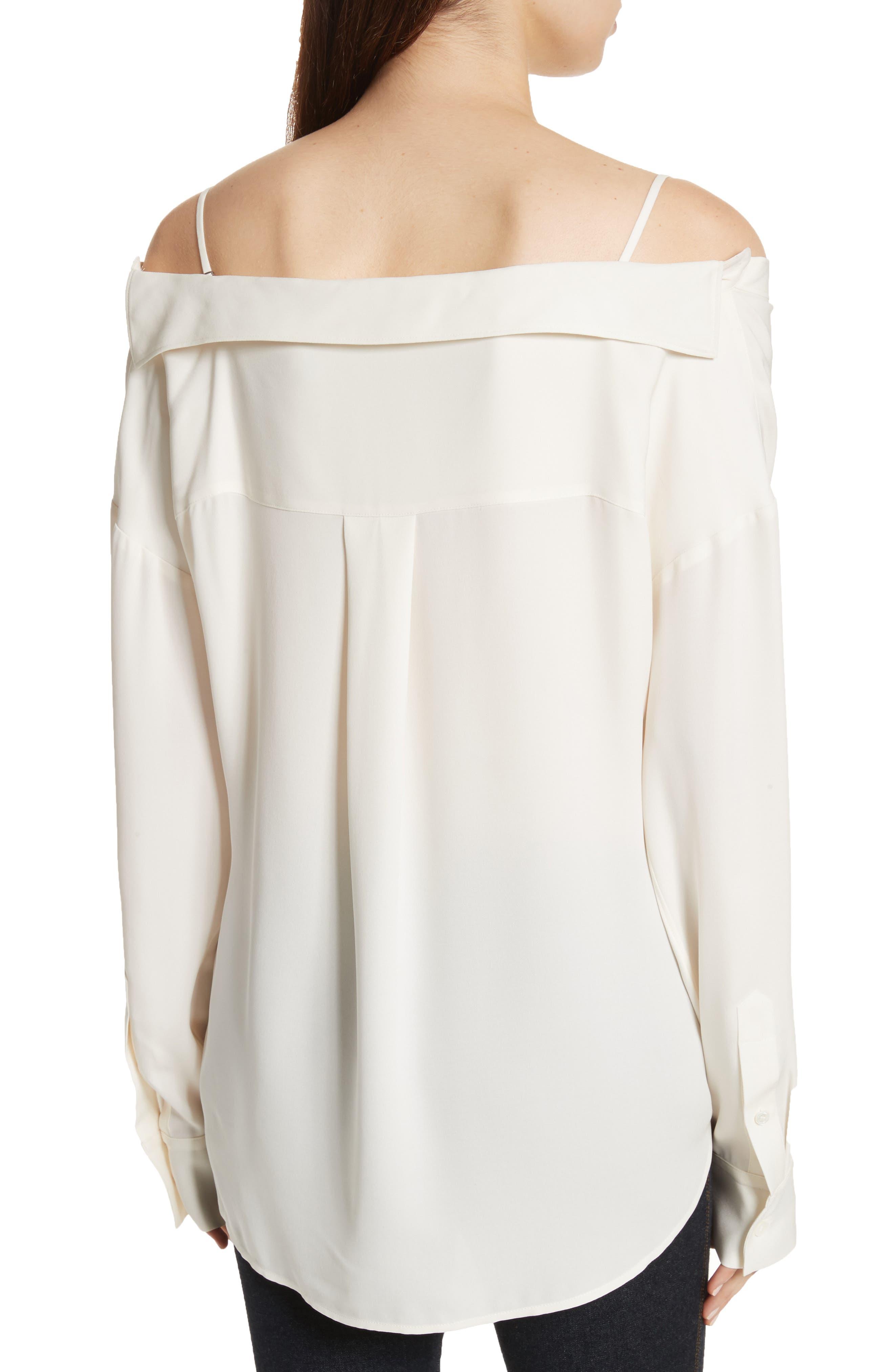 Tamalee Silk Shirt,                             Alternate thumbnail 2, color,                             Ivory