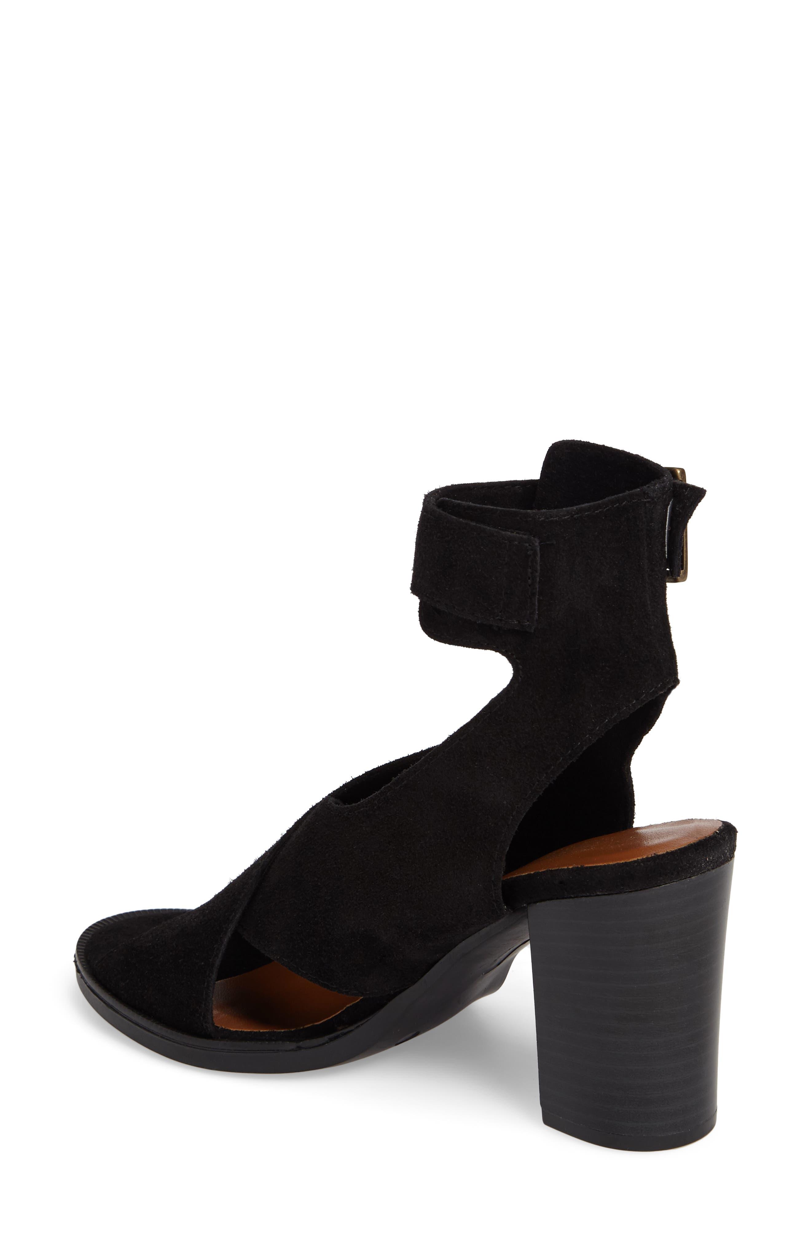 Lil Ankle Wrap Sandal,                             Alternate thumbnail 2, color,                             Black Suede