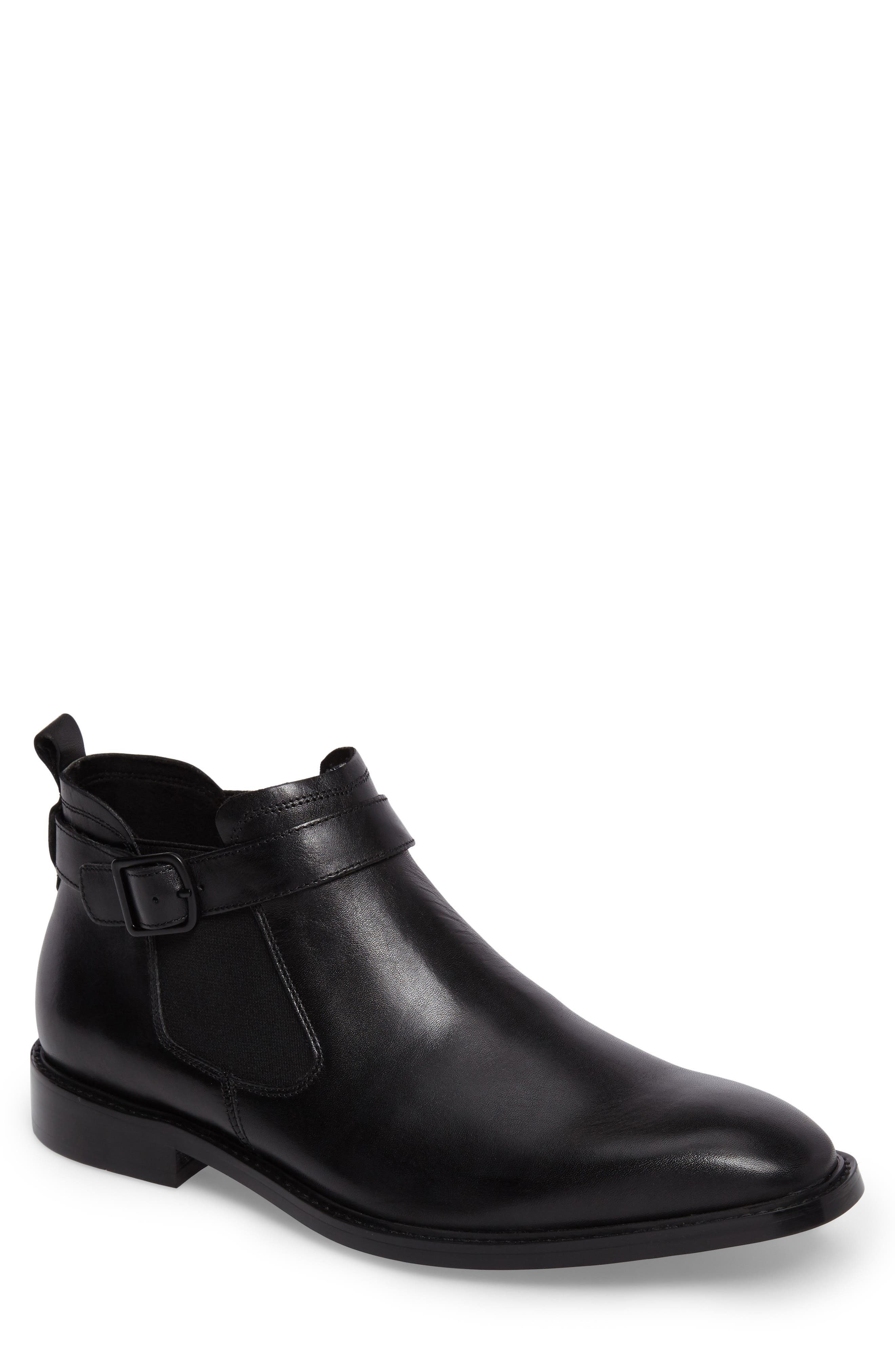 'Sum-Times' Chelsea Boot,                         Main,                         color, Black Leather
