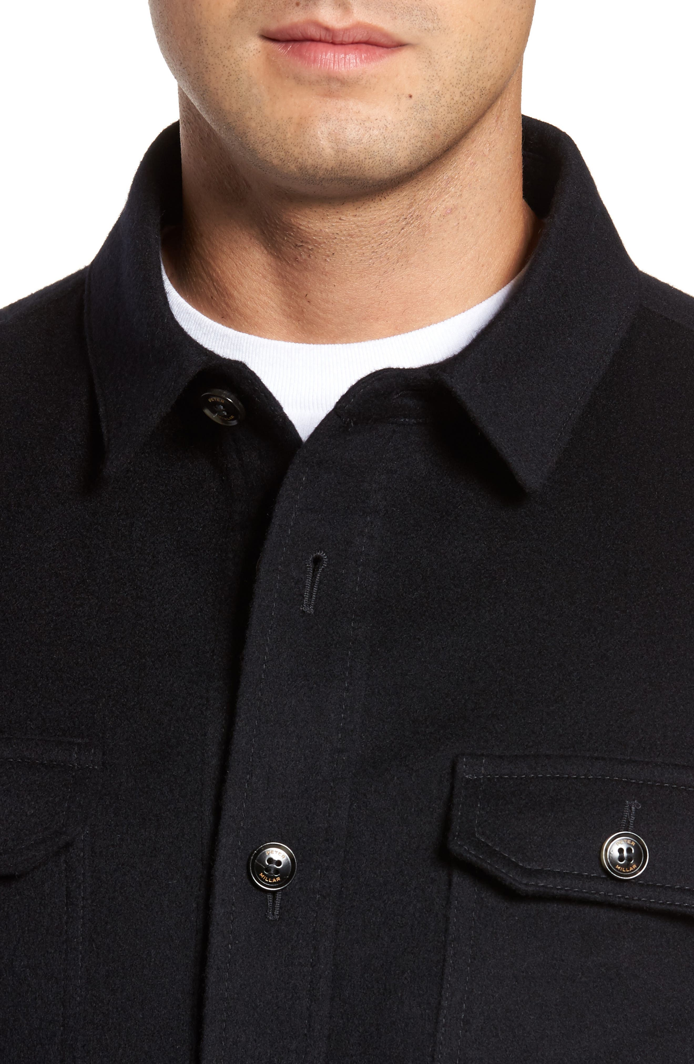Featherweight Journeyman Cashmere Shirt Jacket,                             Alternate thumbnail 4, color,                             Blue
