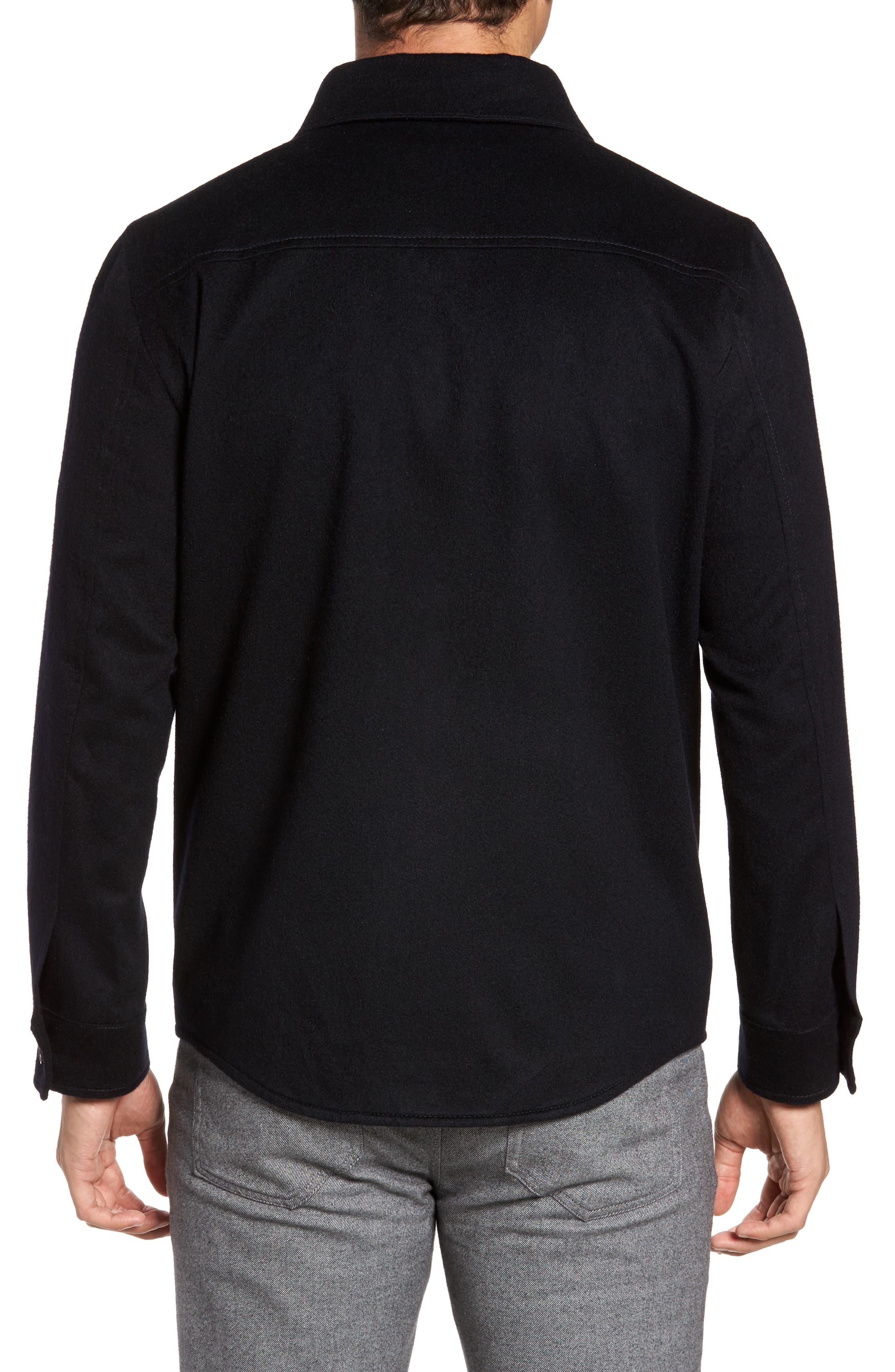 Featherweight Journeyman Cashmere Shirt Jacket,                             Alternate thumbnail 2, color,                             Blue