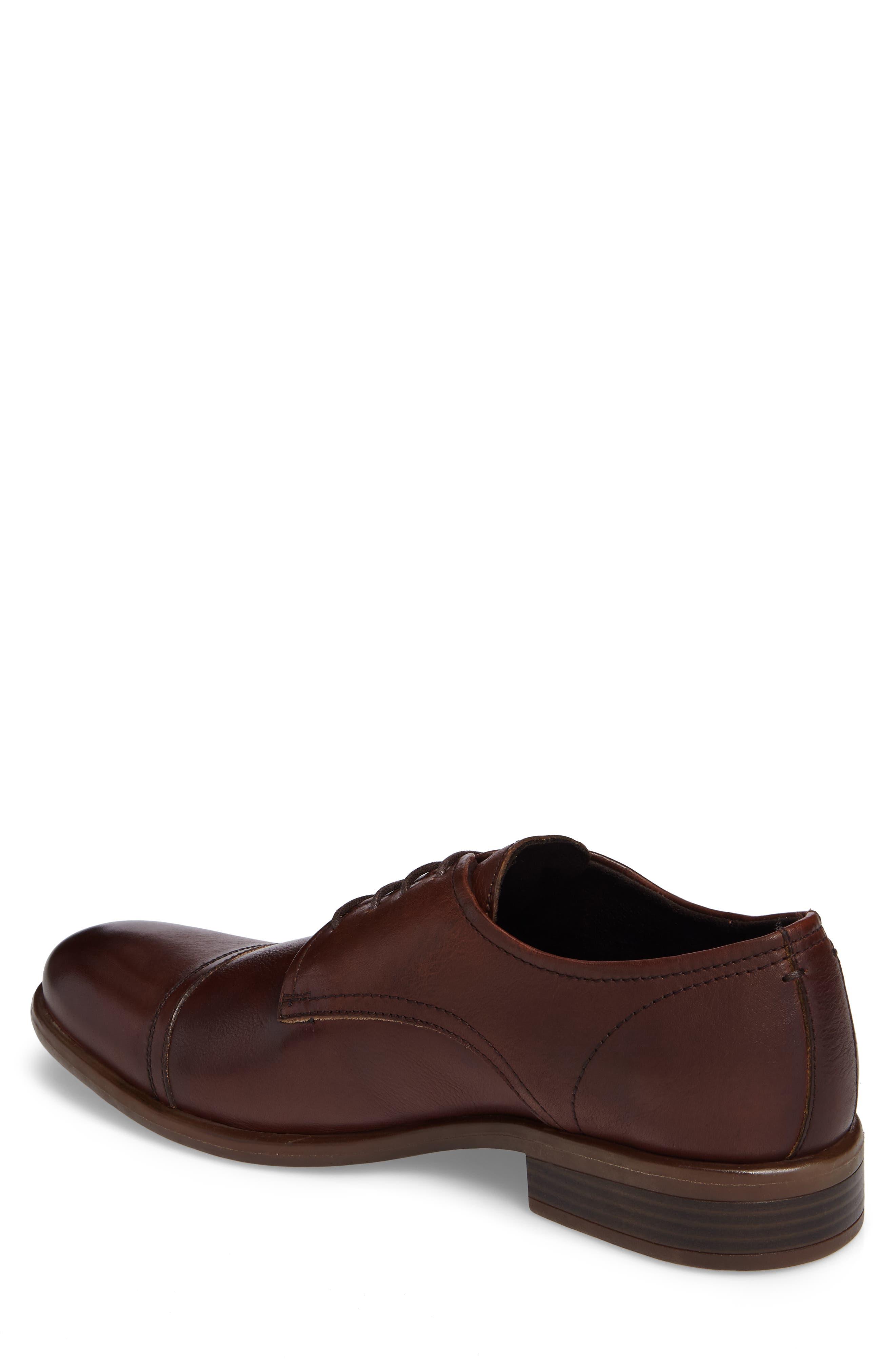Cap Toe Derby,                             Alternate thumbnail 2, color,                             Cognac Leather
