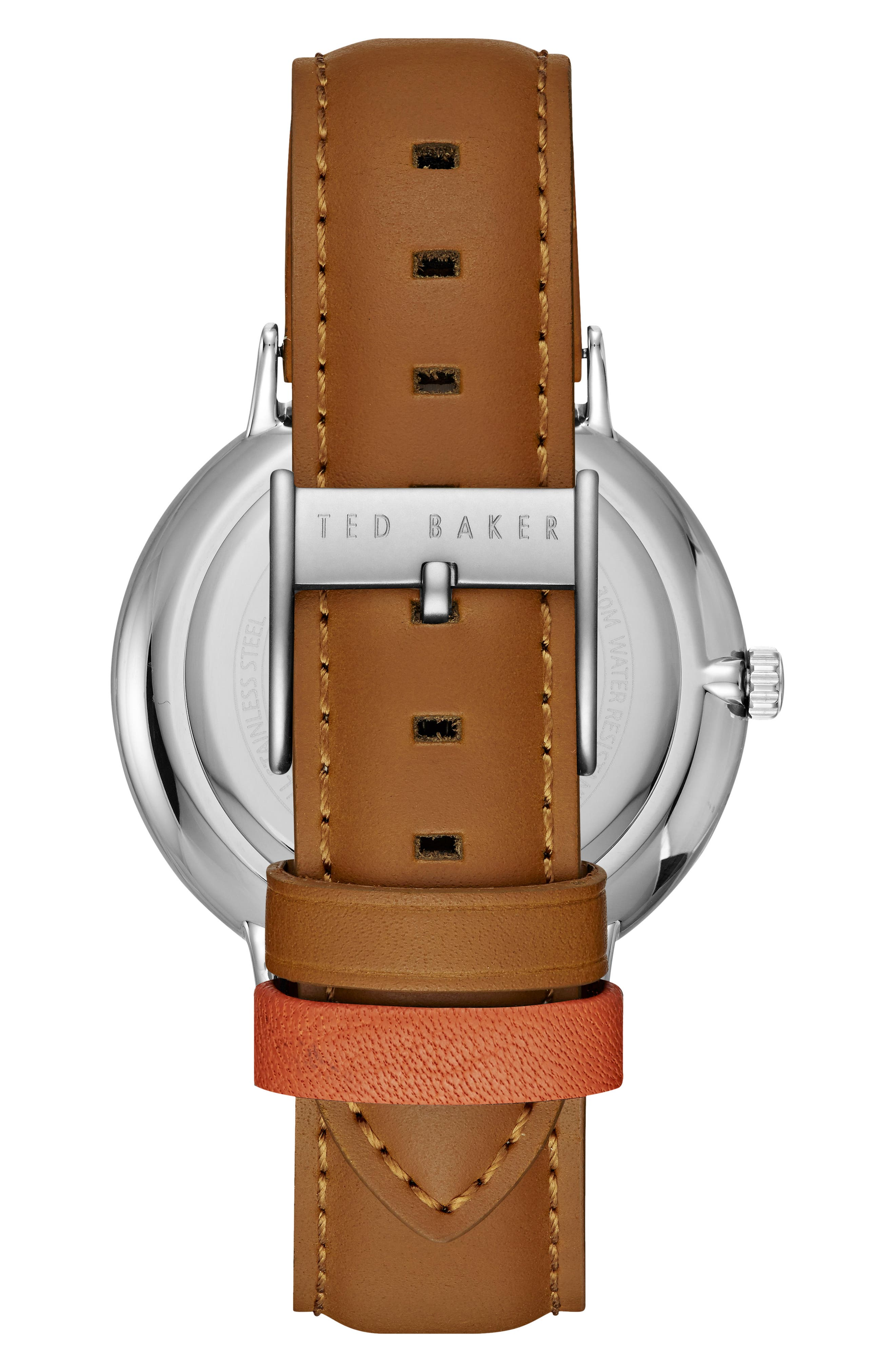 Alternate Image 2  - Ted Baker London Harris Leather Strap Watch, 42mm
