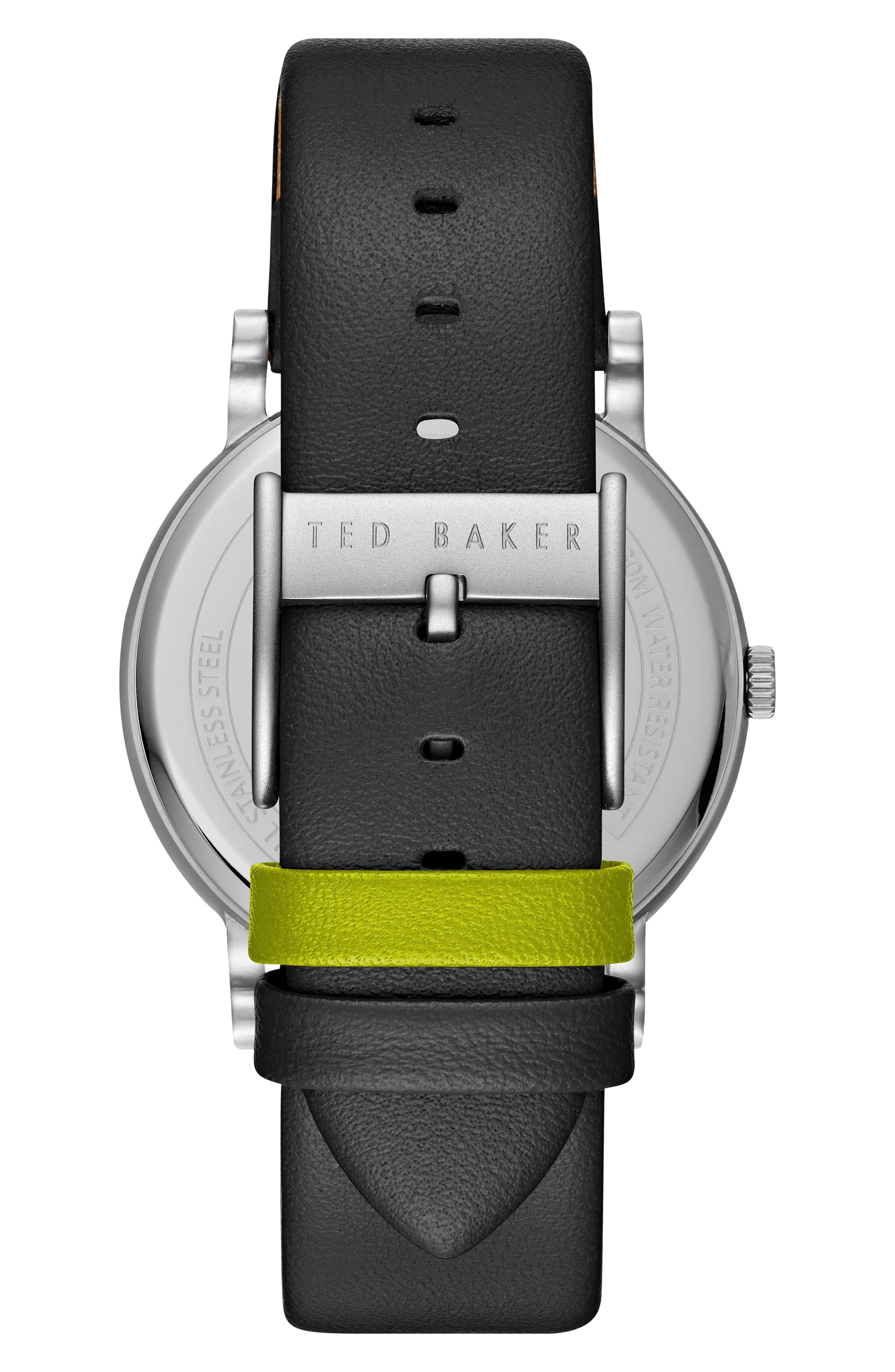 Alternate Image 2  - Ted Baker London Nolan Subeye Leather Strap Watch, 42mm