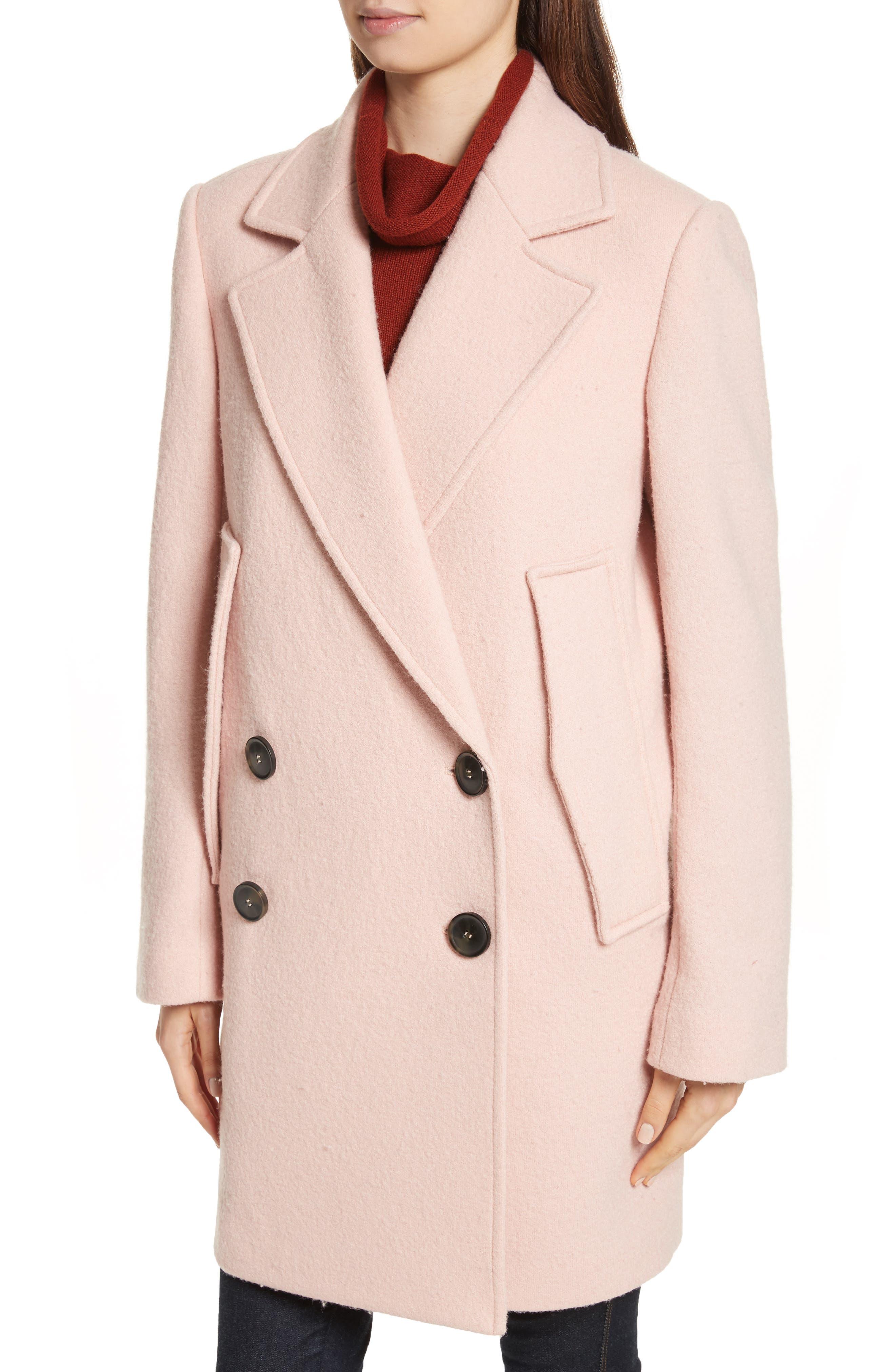 Alternate Image 4  - Theory Wool Bouclé Coat