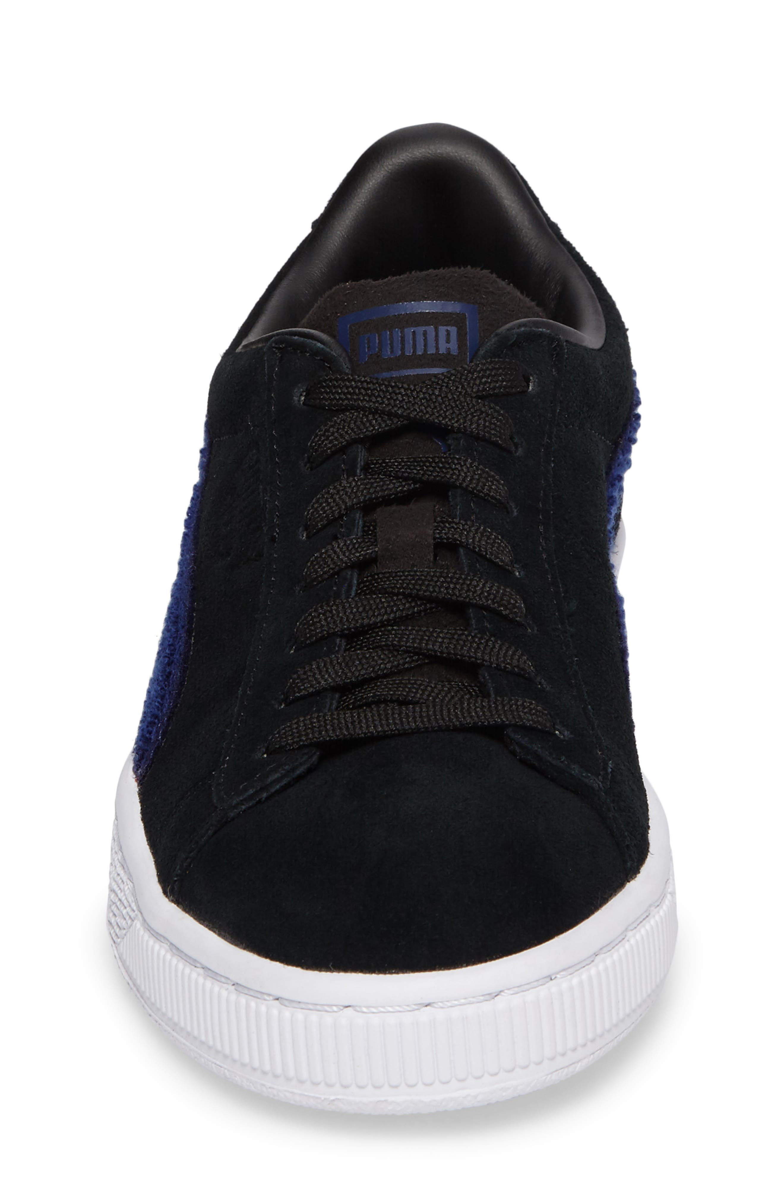 Classic Terry Jr Sneaker,                             Alternate thumbnail 4, color,                             Black