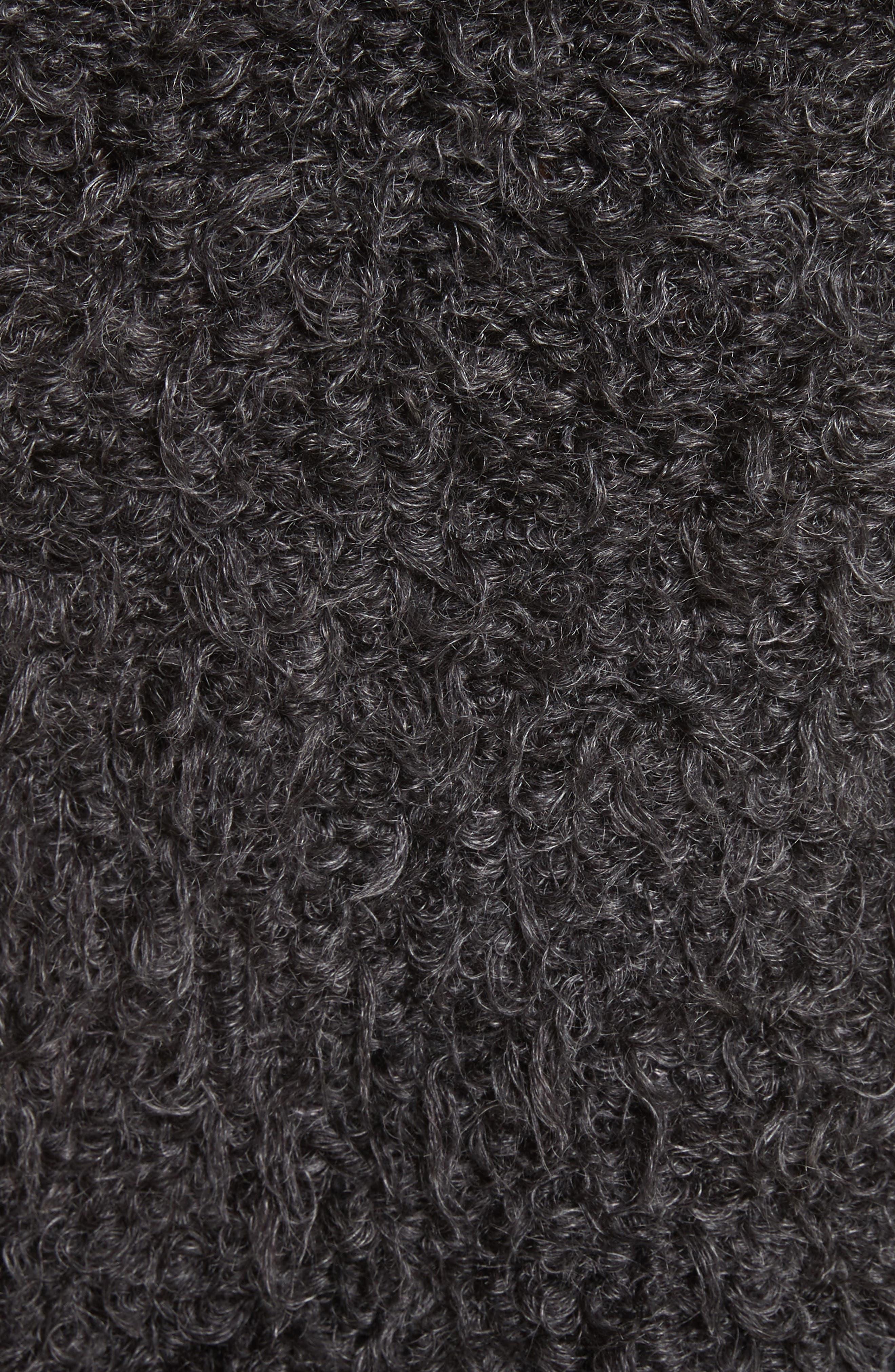 Fuzzy Miniskirt,                             Alternate thumbnail 6, color,                             Charcoal