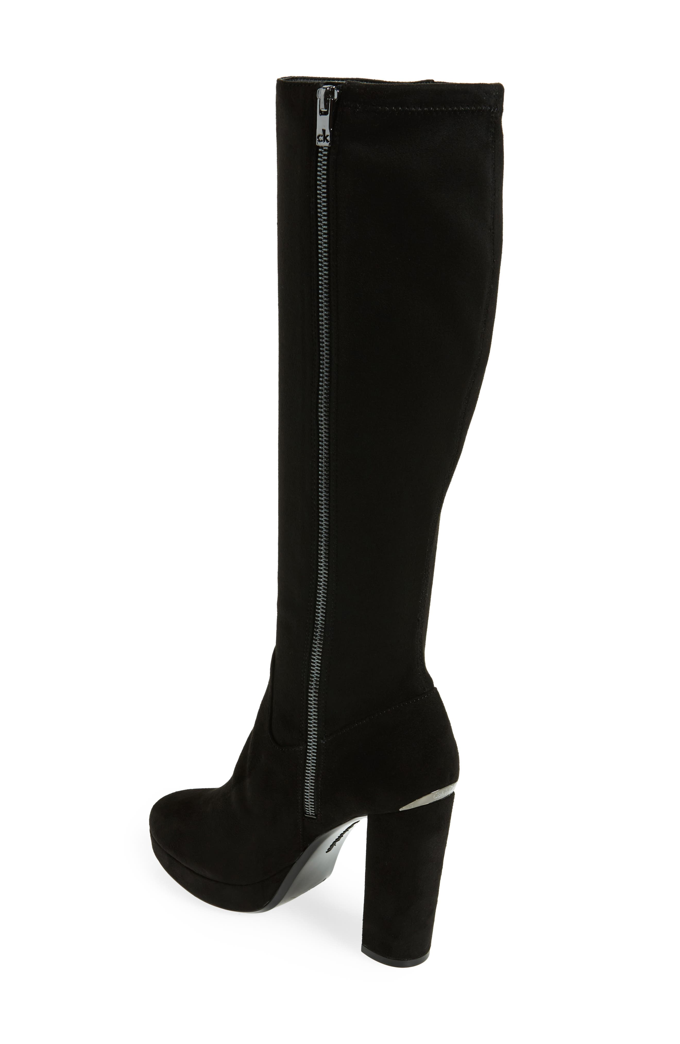 Mailia Tall Boot,                             Alternate thumbnail 2, color,                             Black Suede