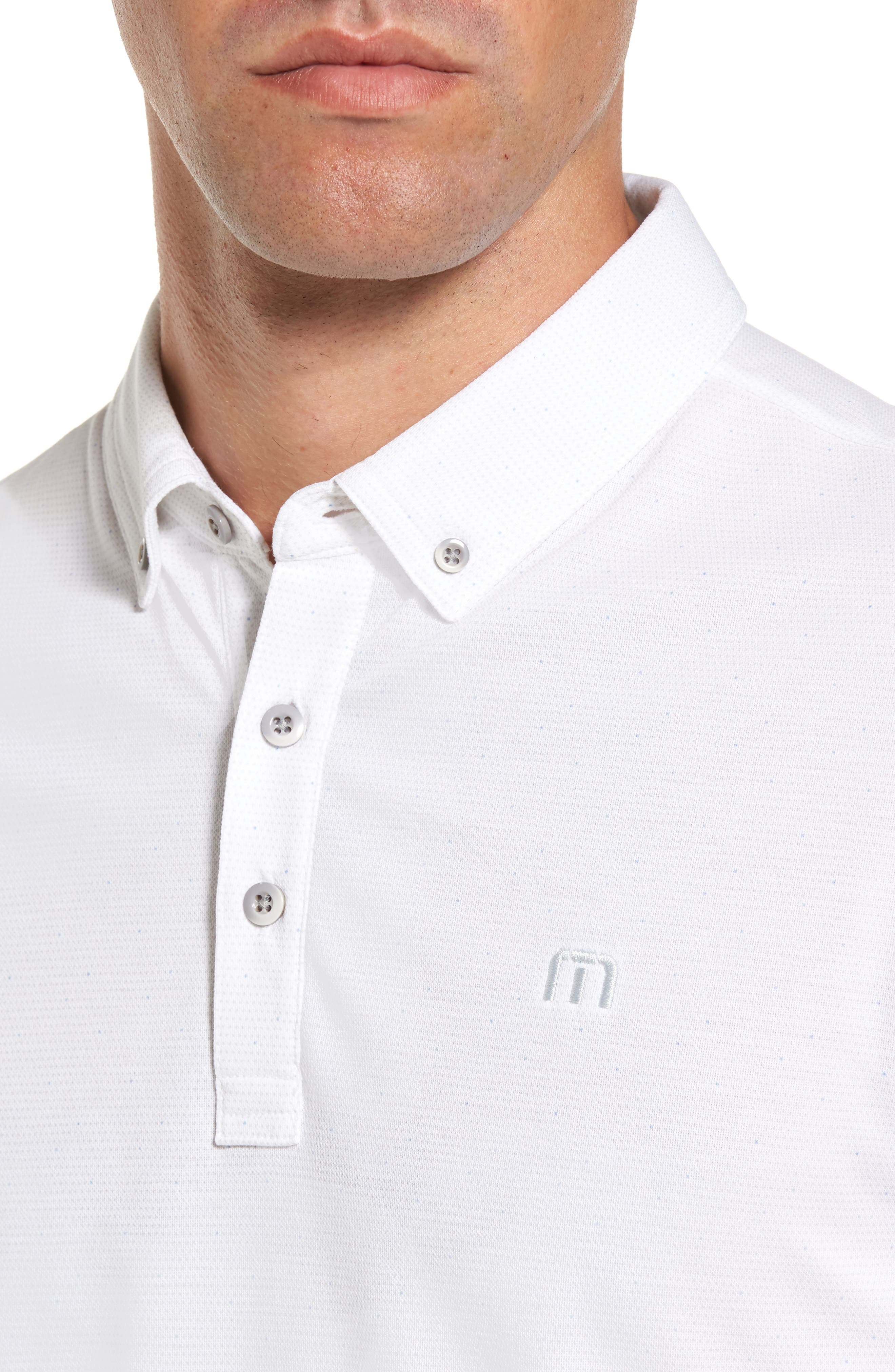 Stephen Dot Piqué Polo,                             Alternate thumbnail 4, color,                             White
