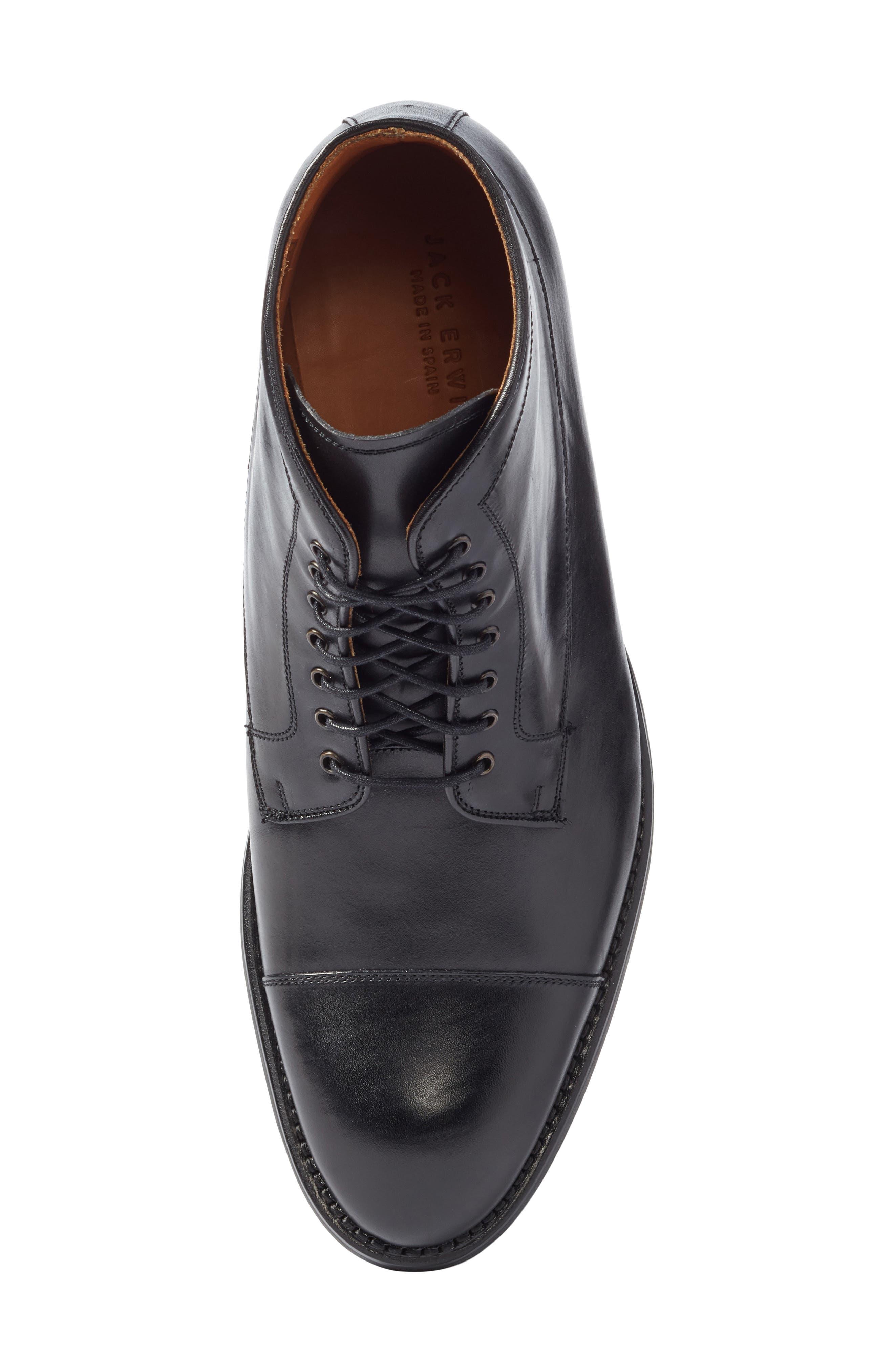 Chester Cap Toe Boot,                             Alternate thumbnail 5, color,                             Black Leather
