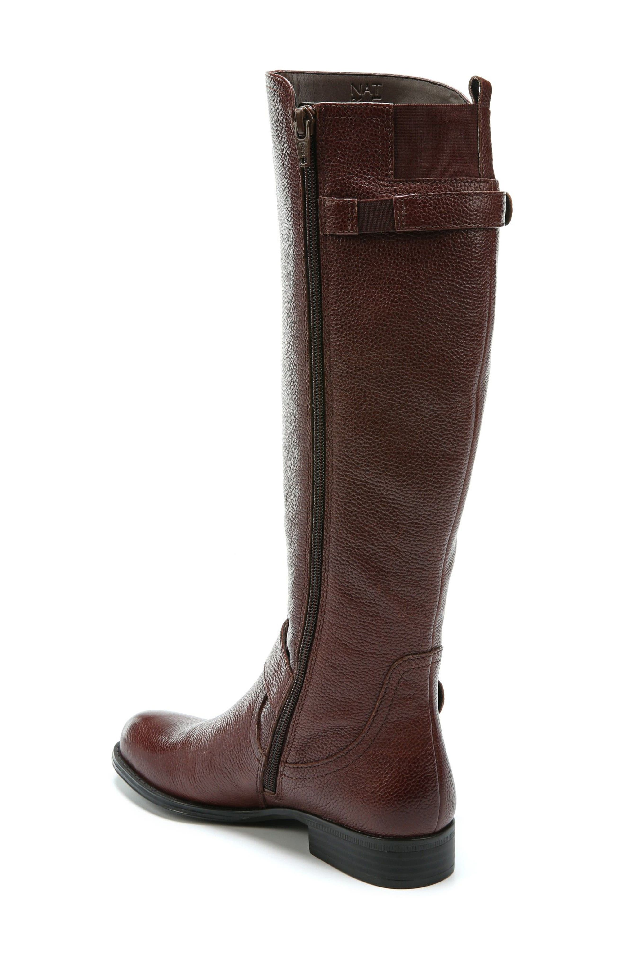 Jenelle Tall Boot,                             Alternate thumbnail 2, color,                             Brown Leather